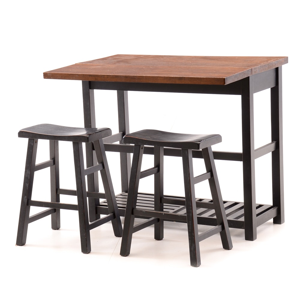 Contemporary Drop Leaf Bar Table ...