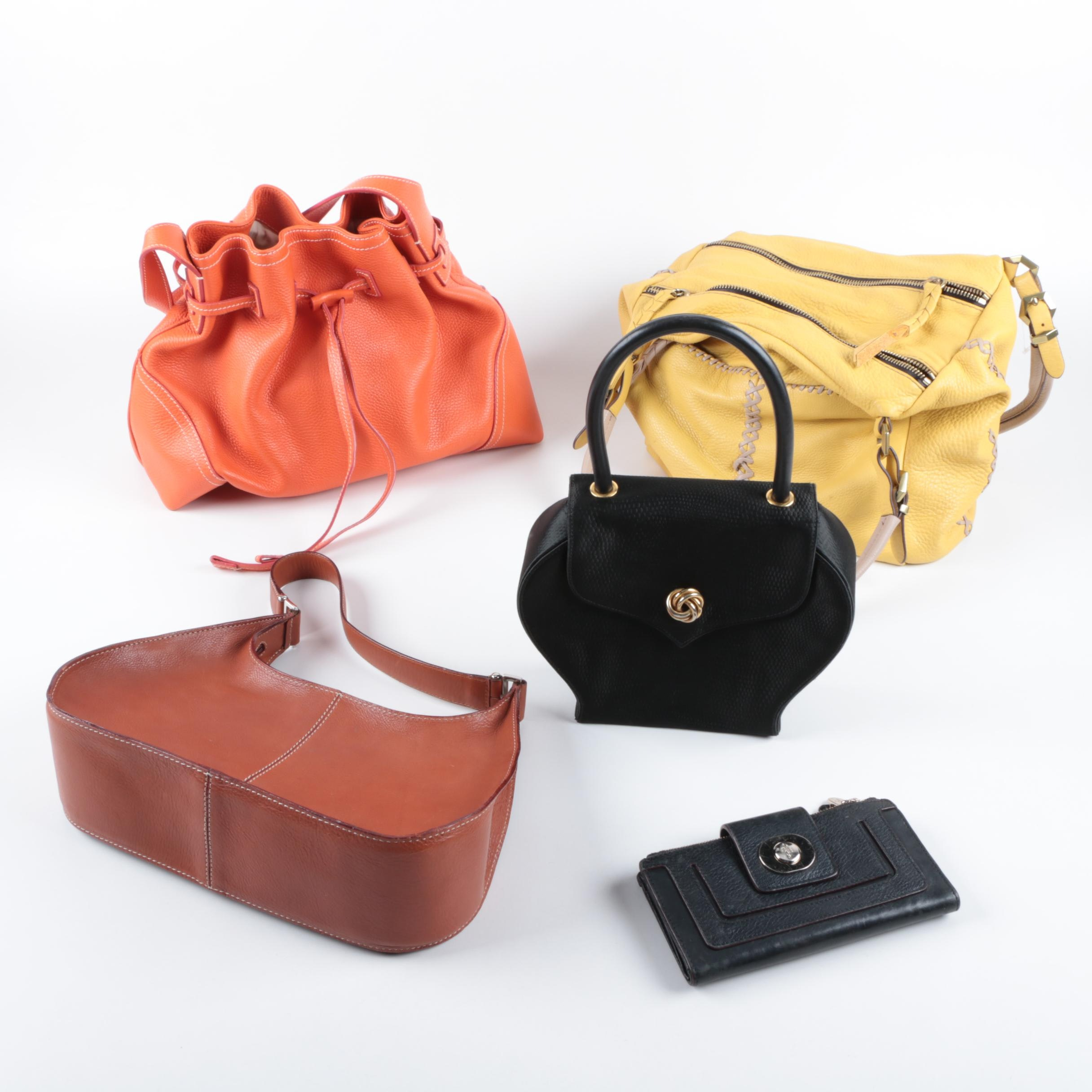 Leather Handbags and Wallet Including Cole Haan and Walter Steiger