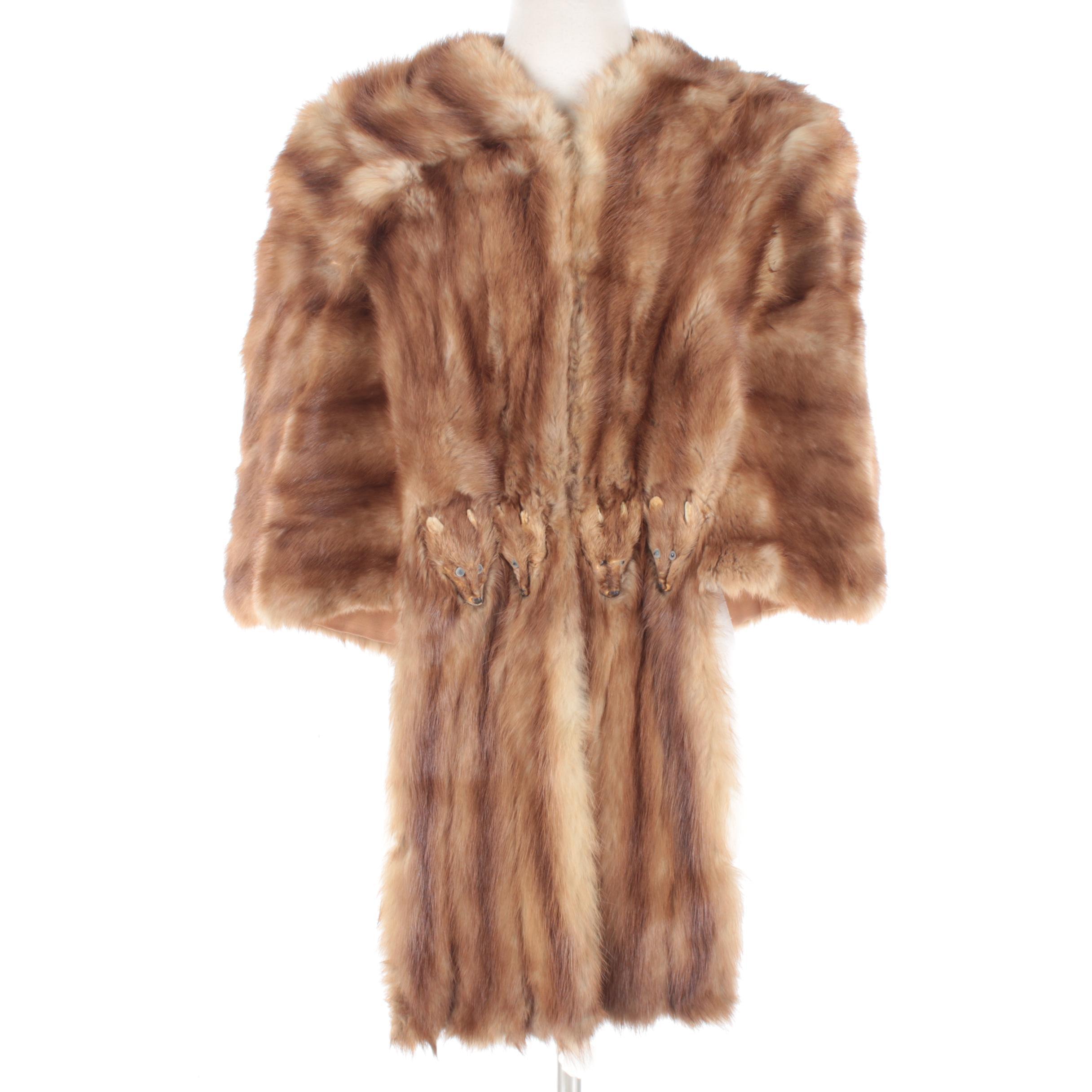 Vintage Marten Fur Stole