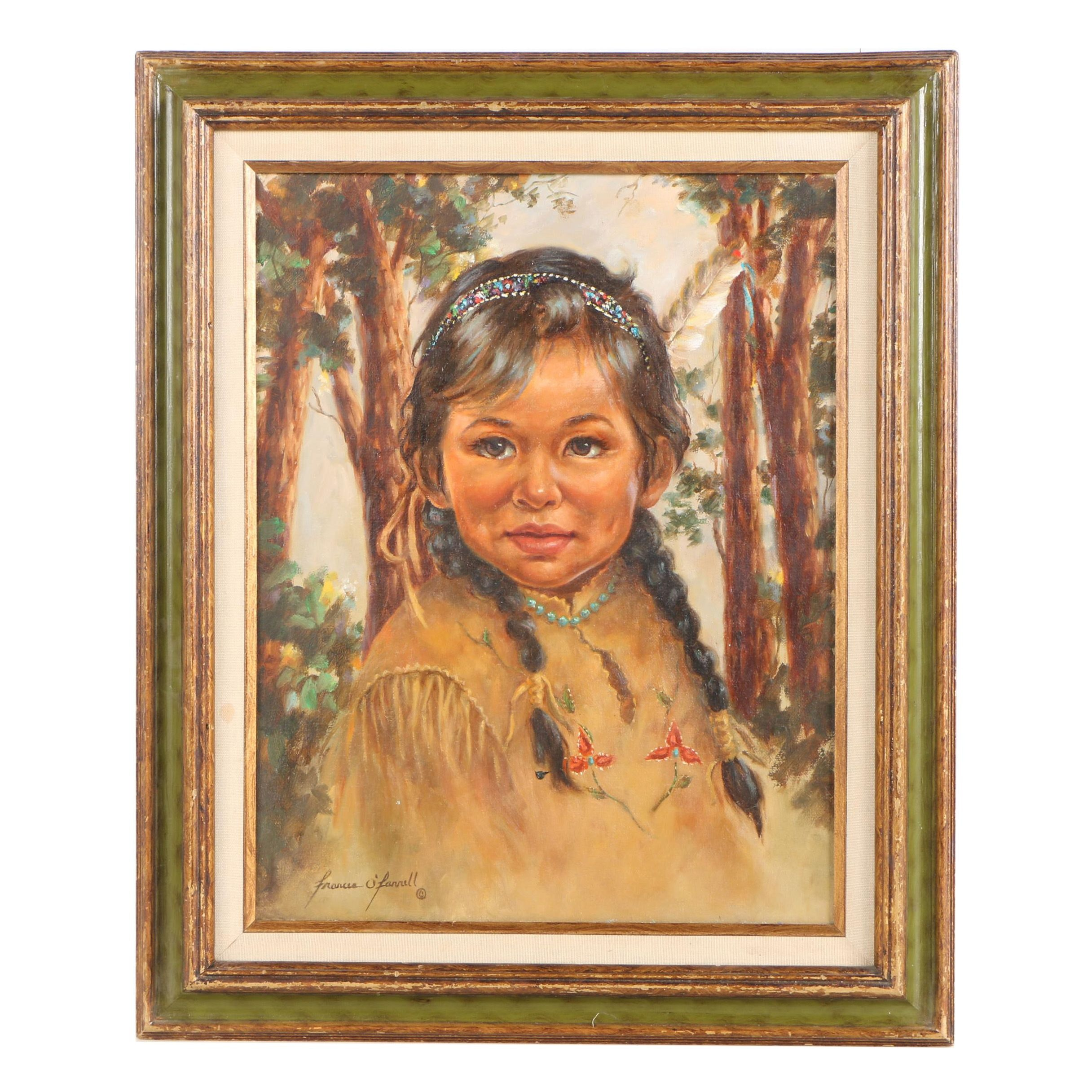 Frances O'Farrell Oil Painting of Child