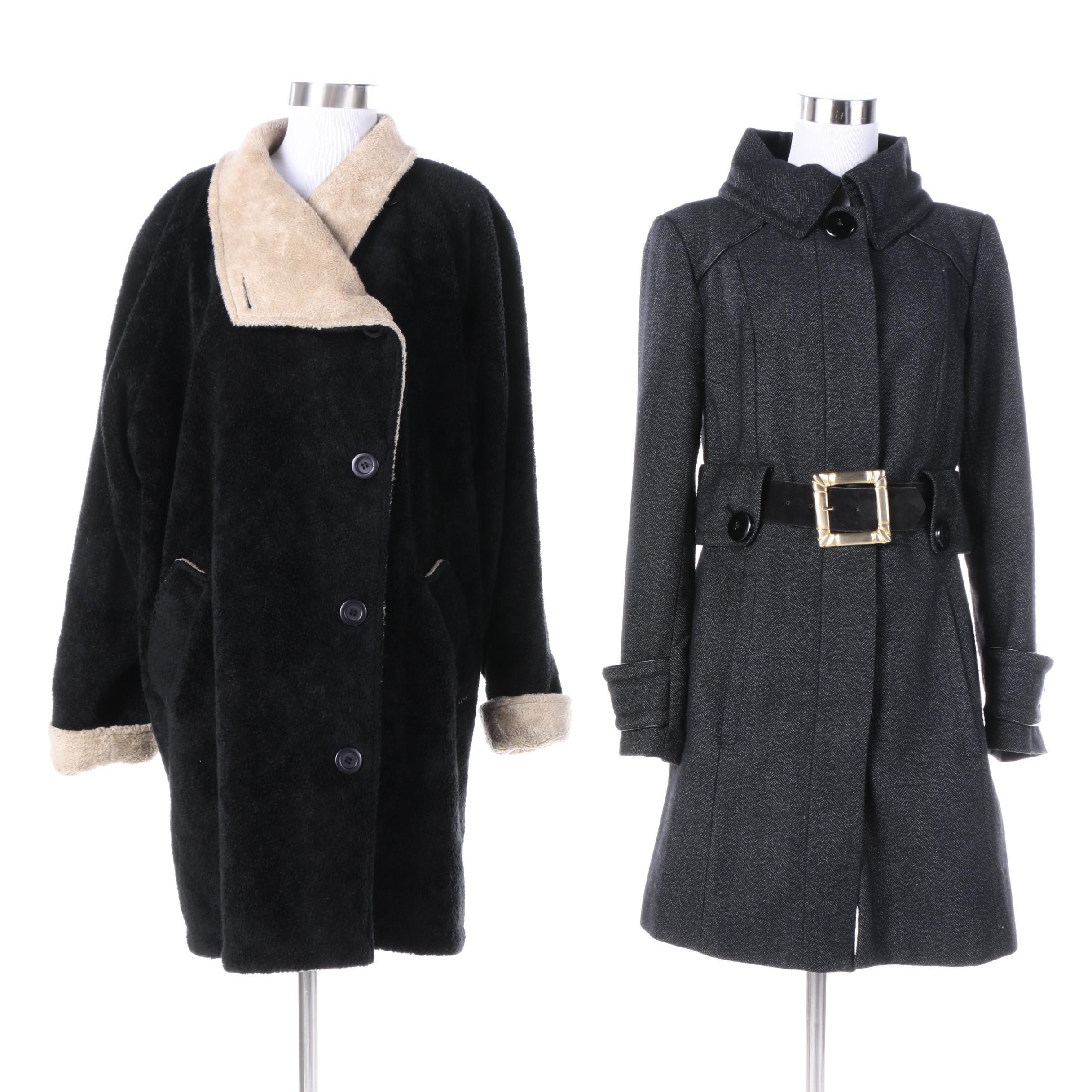 Women's Le Pied-de-Biche and Zara Basic Coats