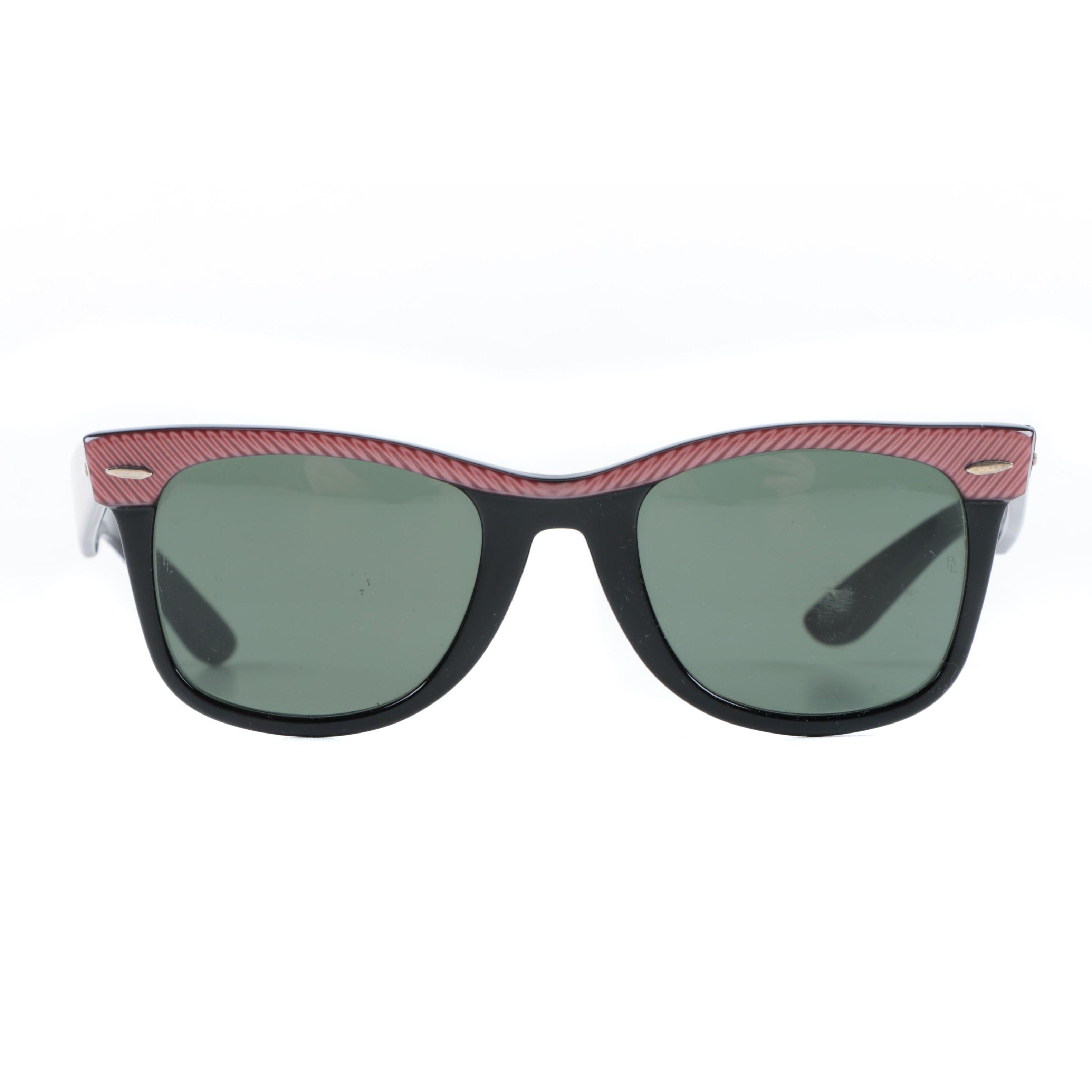 1980s Vintage Ray-Ban Bausch & Lomb Two Tone Wayfarer Sunglasses