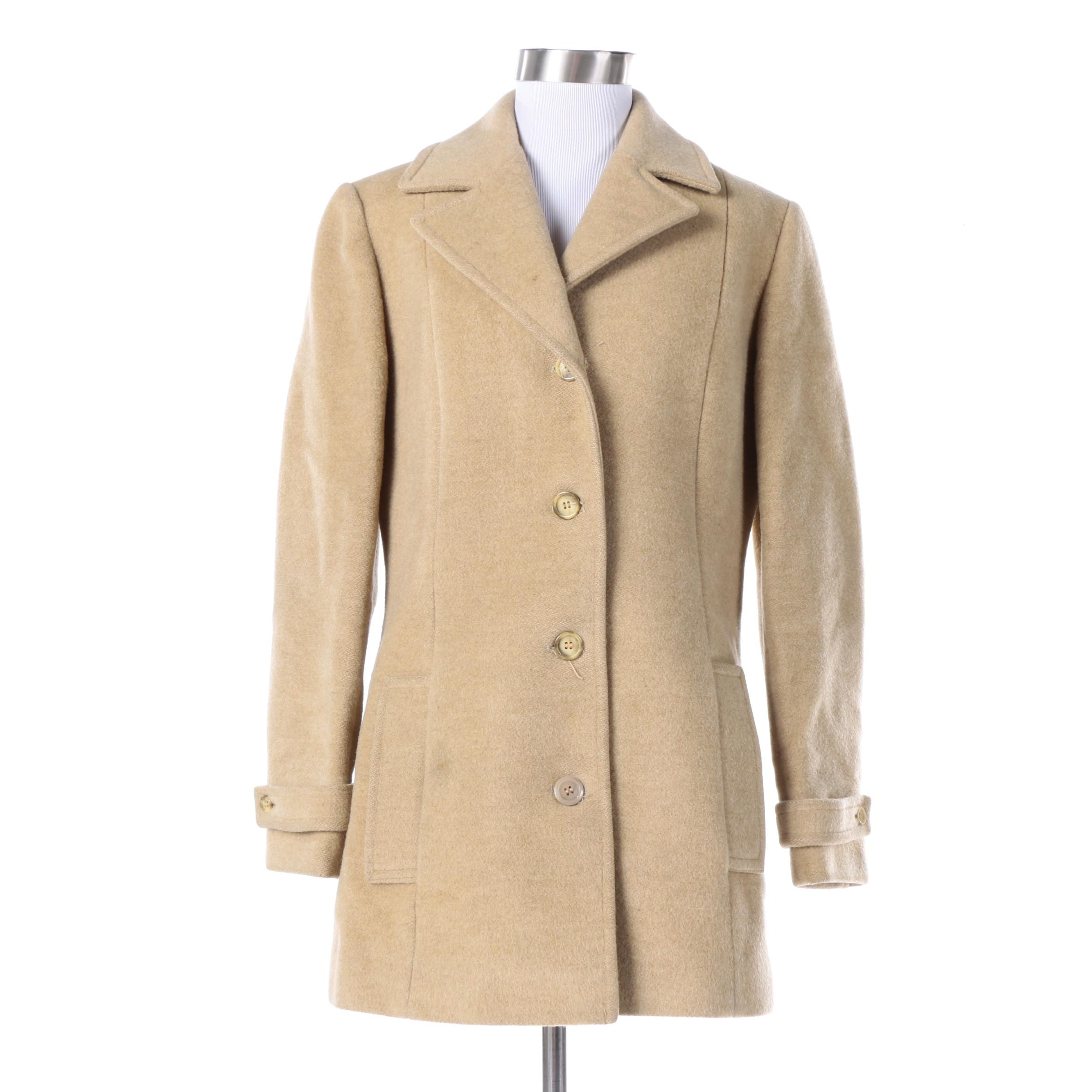 Vintage Pendleton Beige Virgin Wool Coat
