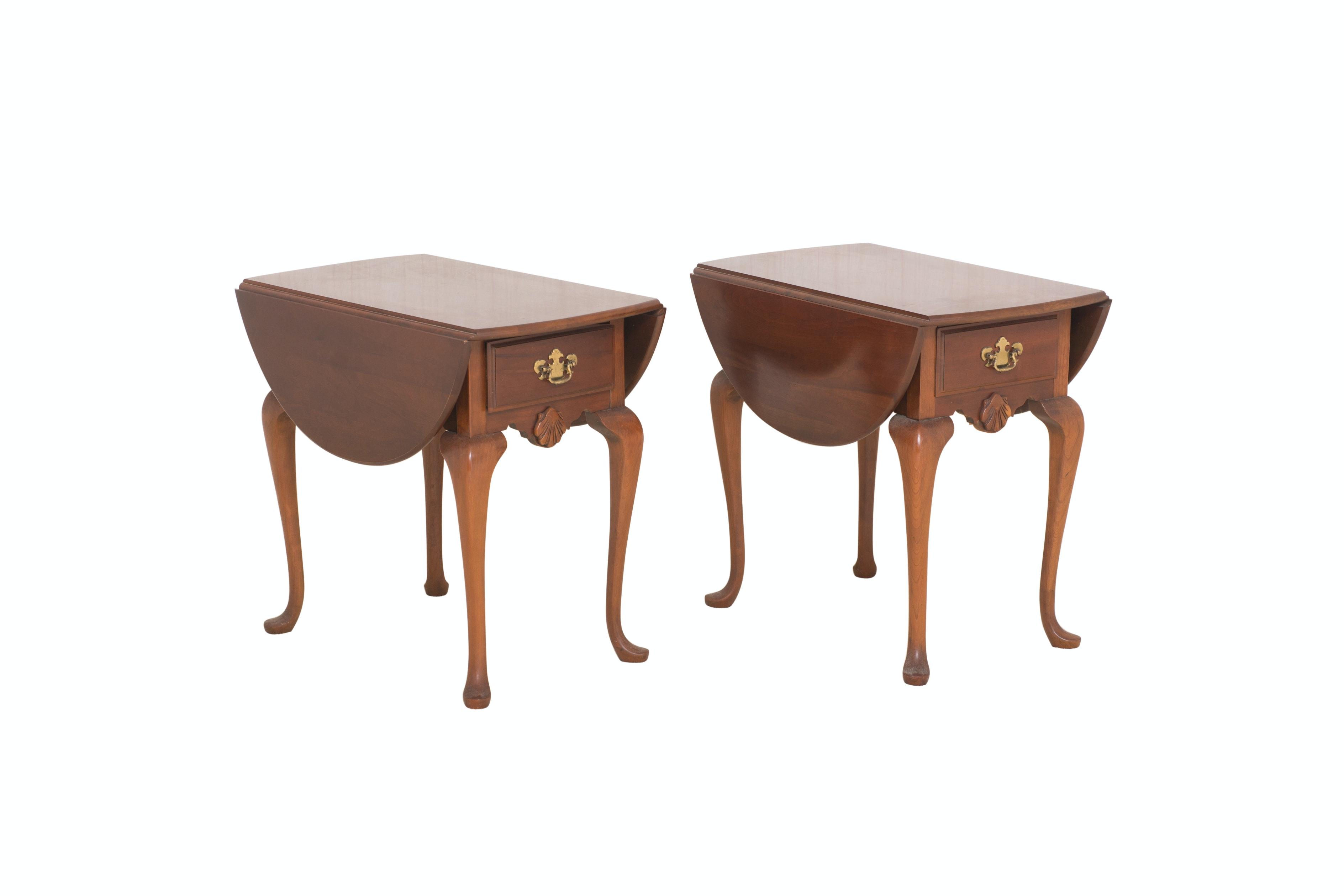 Pair of Queen Anne Style End Tables
