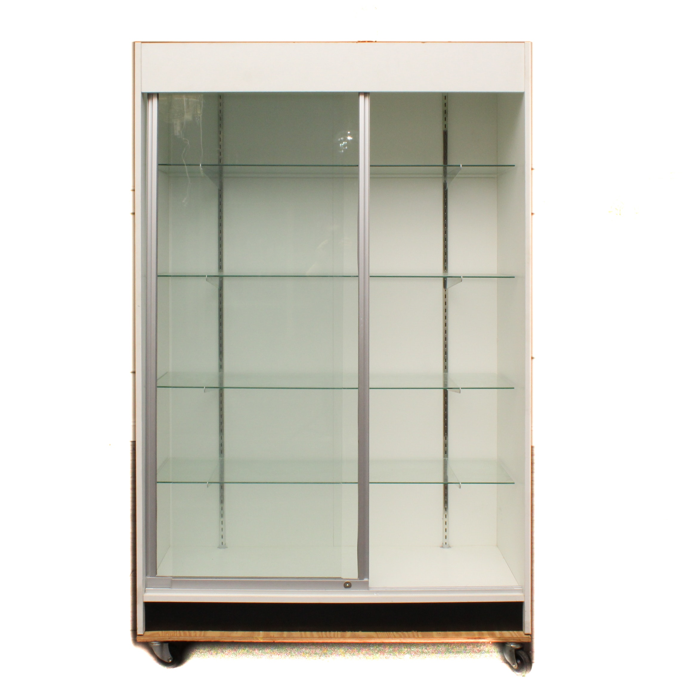 Display Case with Sliding Glass Doors