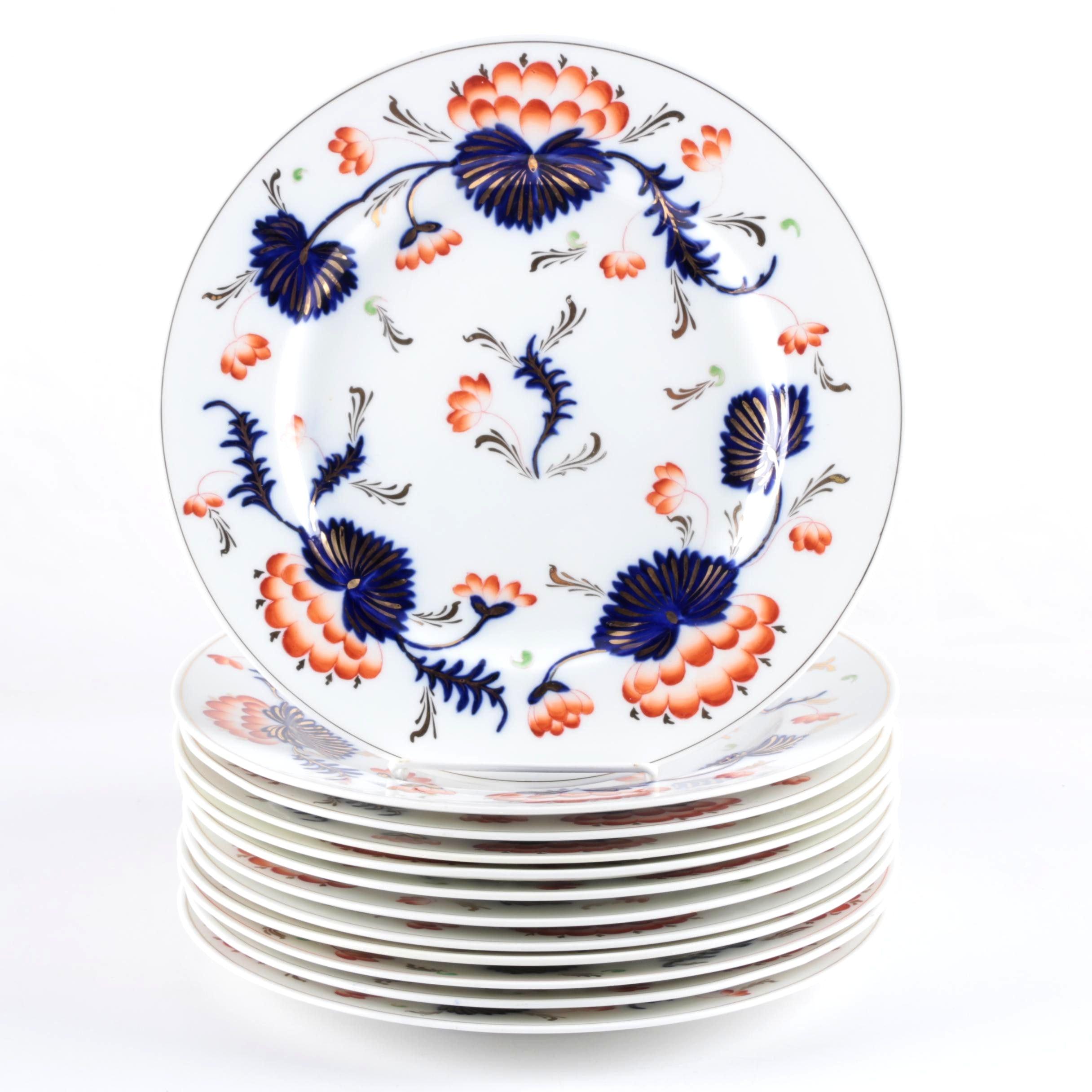 "George Jones &  Sons ""Mogador"" Dinner Plates Circa 1893-1920"