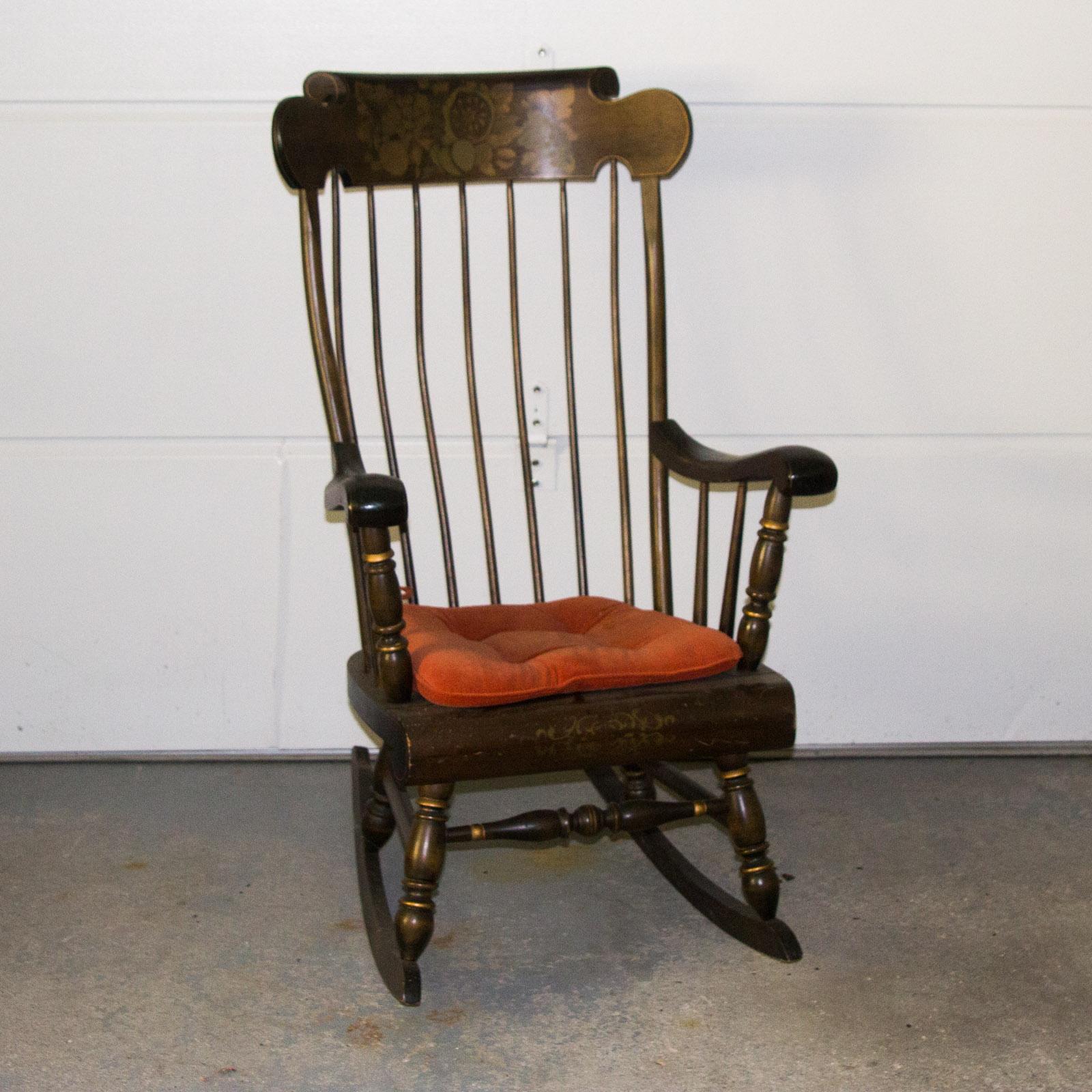 wooden rocking chair. Vintage Wooden Rocking Chair