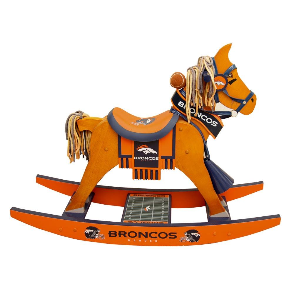 Denver Broncos Rocking Horse by The Danbury Mint