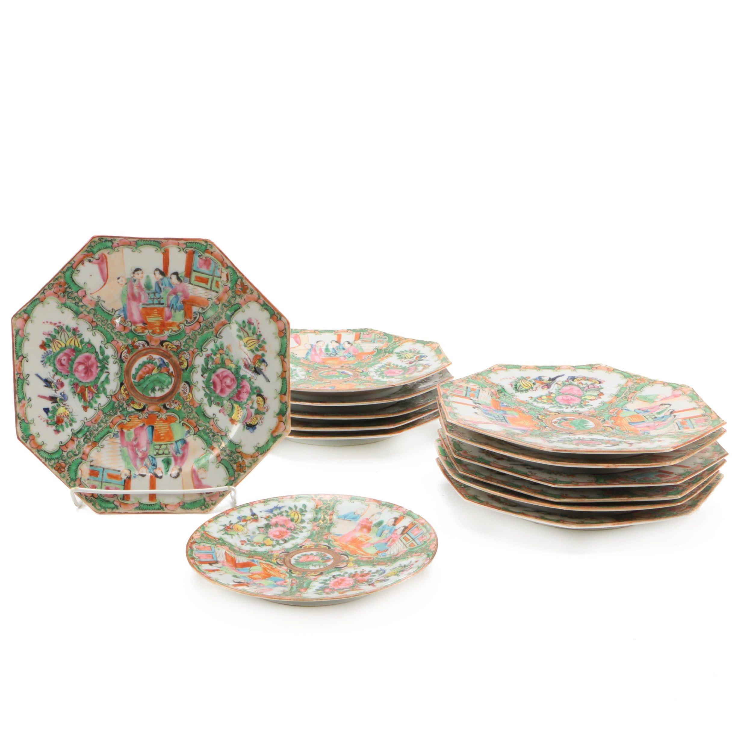 "Vintage Chinese ""Rose Medallion"" Porcelain Tableware"