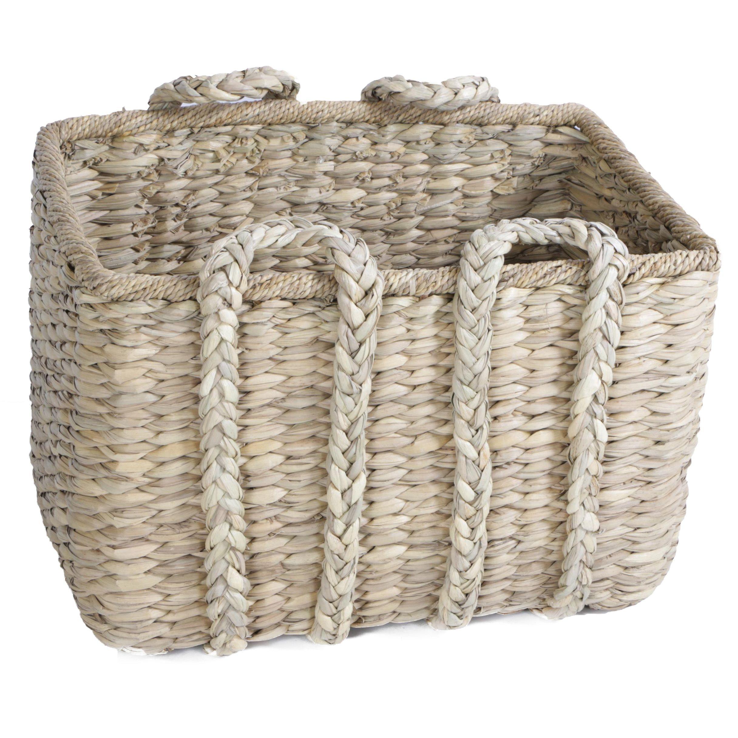 Woven Wicker Floor Basket