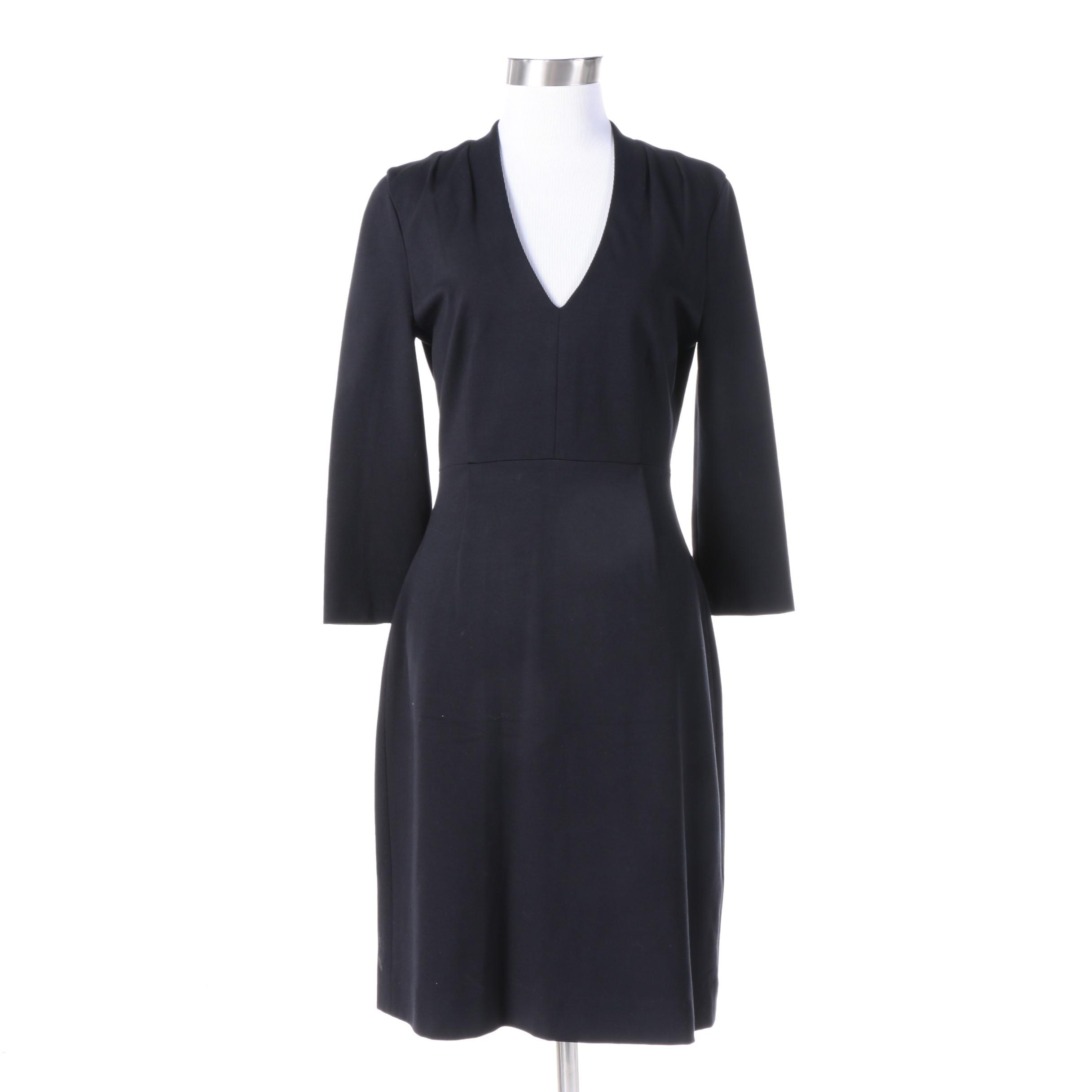 "Kate Spade New York ""Look For The Silver Lining"" Black Fitted Dress"