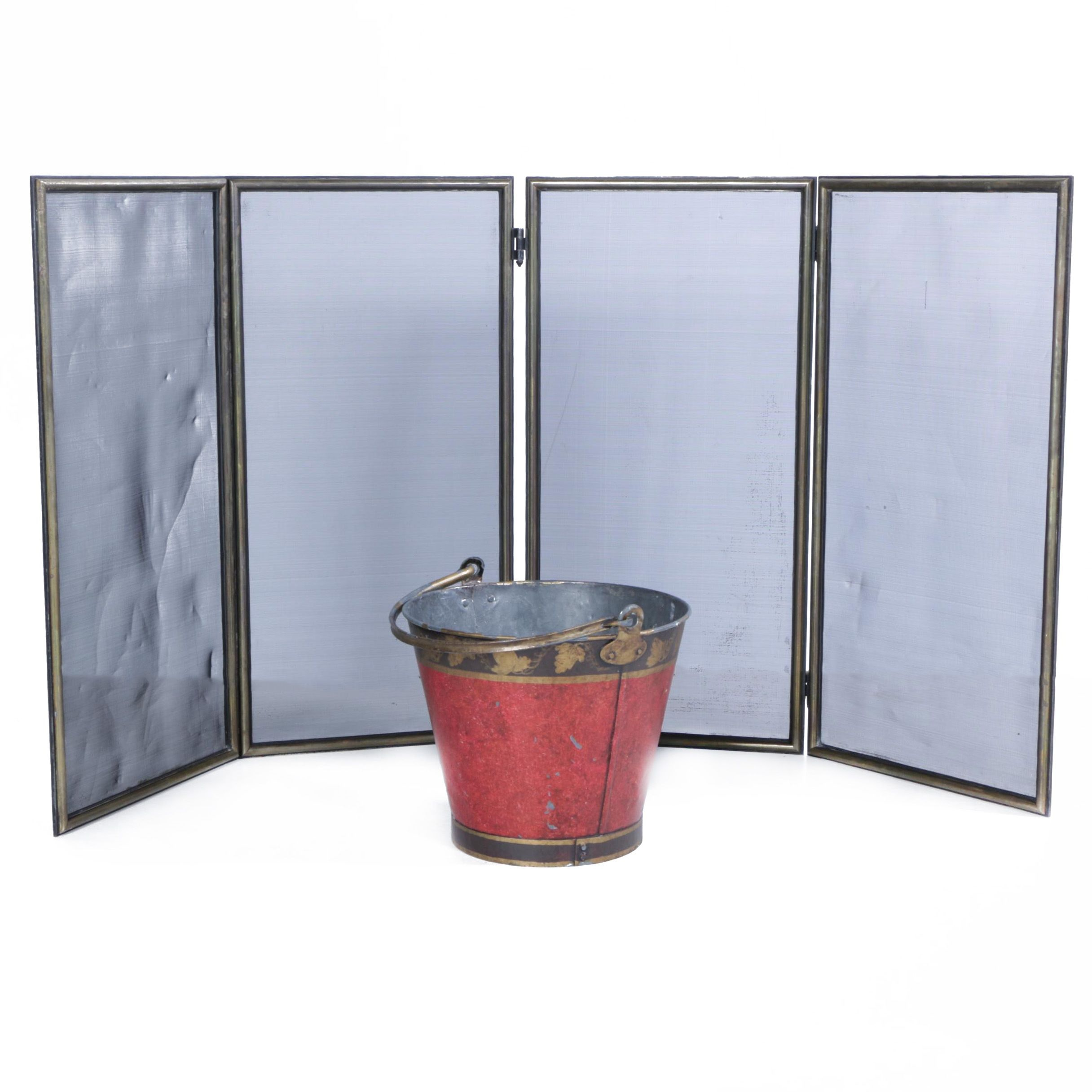 Fireplace Screen and Bucket