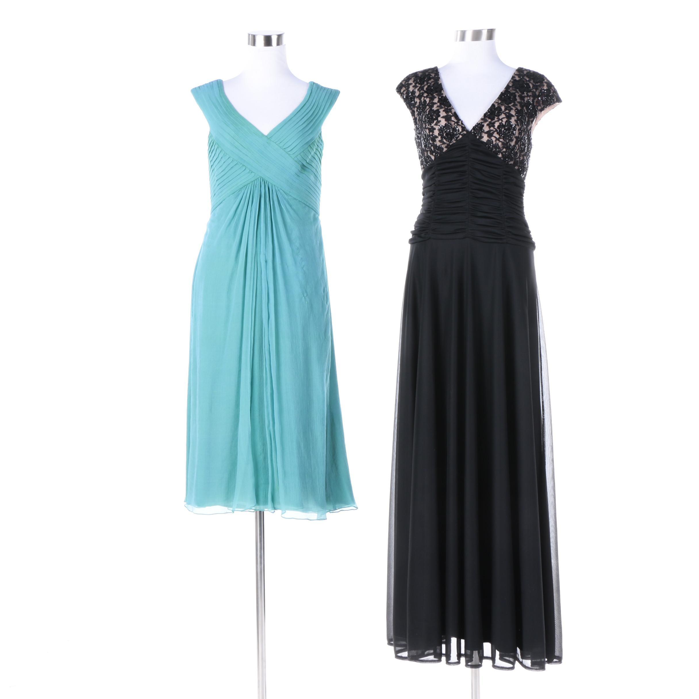 Tadashi Shoji Sleeveless Cocktail Dress and Chadwick's Sleeveless Evening Gown