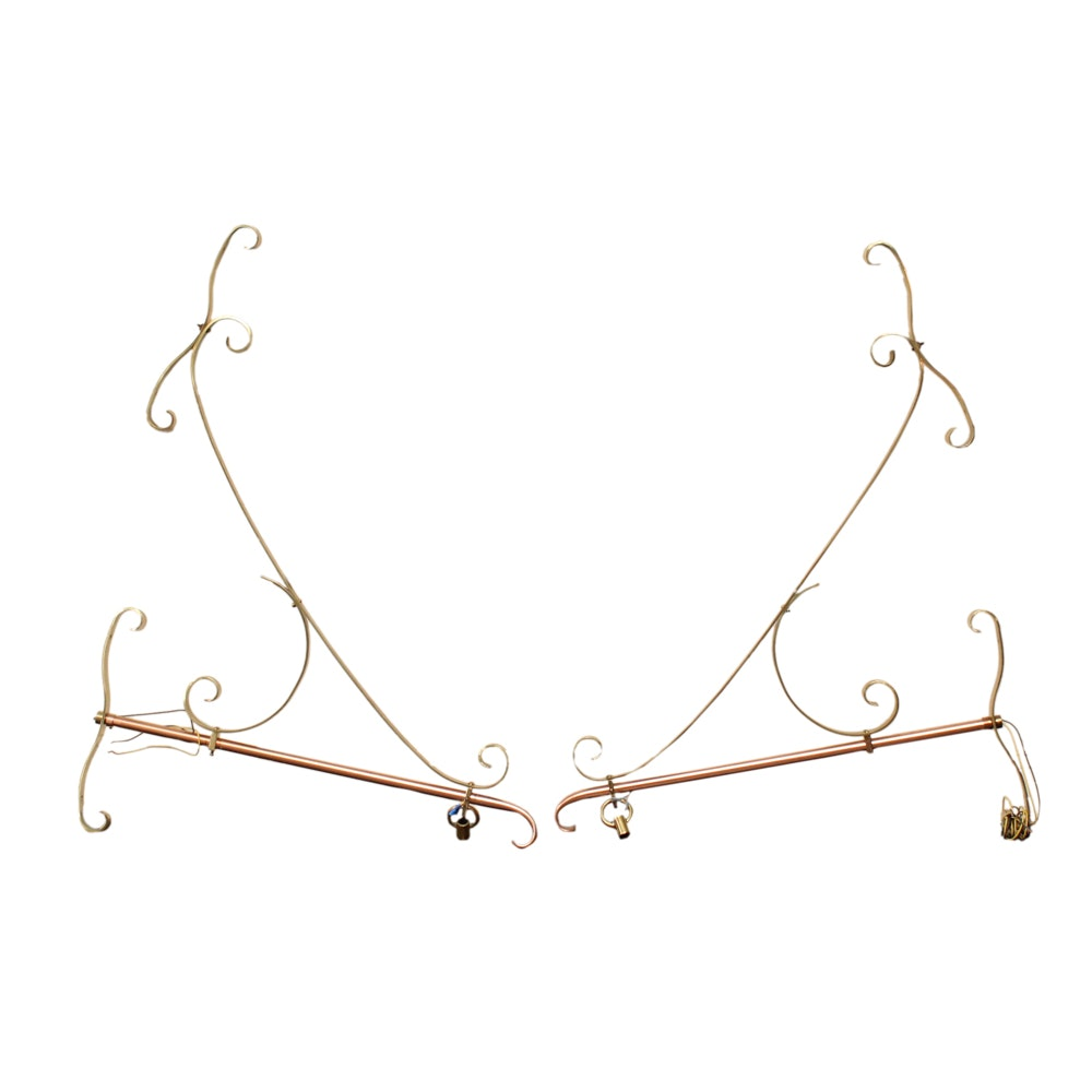 Copper and Brass Tone Wall Brackets
