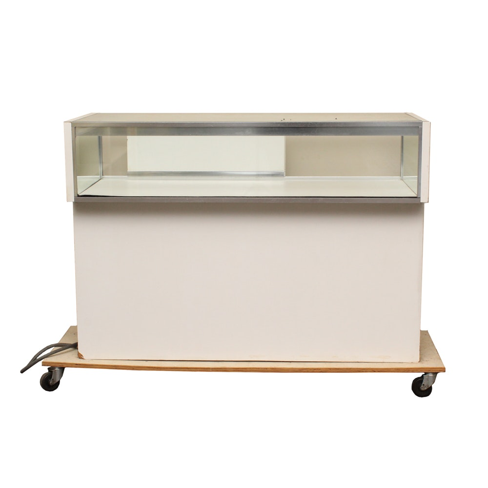 Display Case with Glass Top