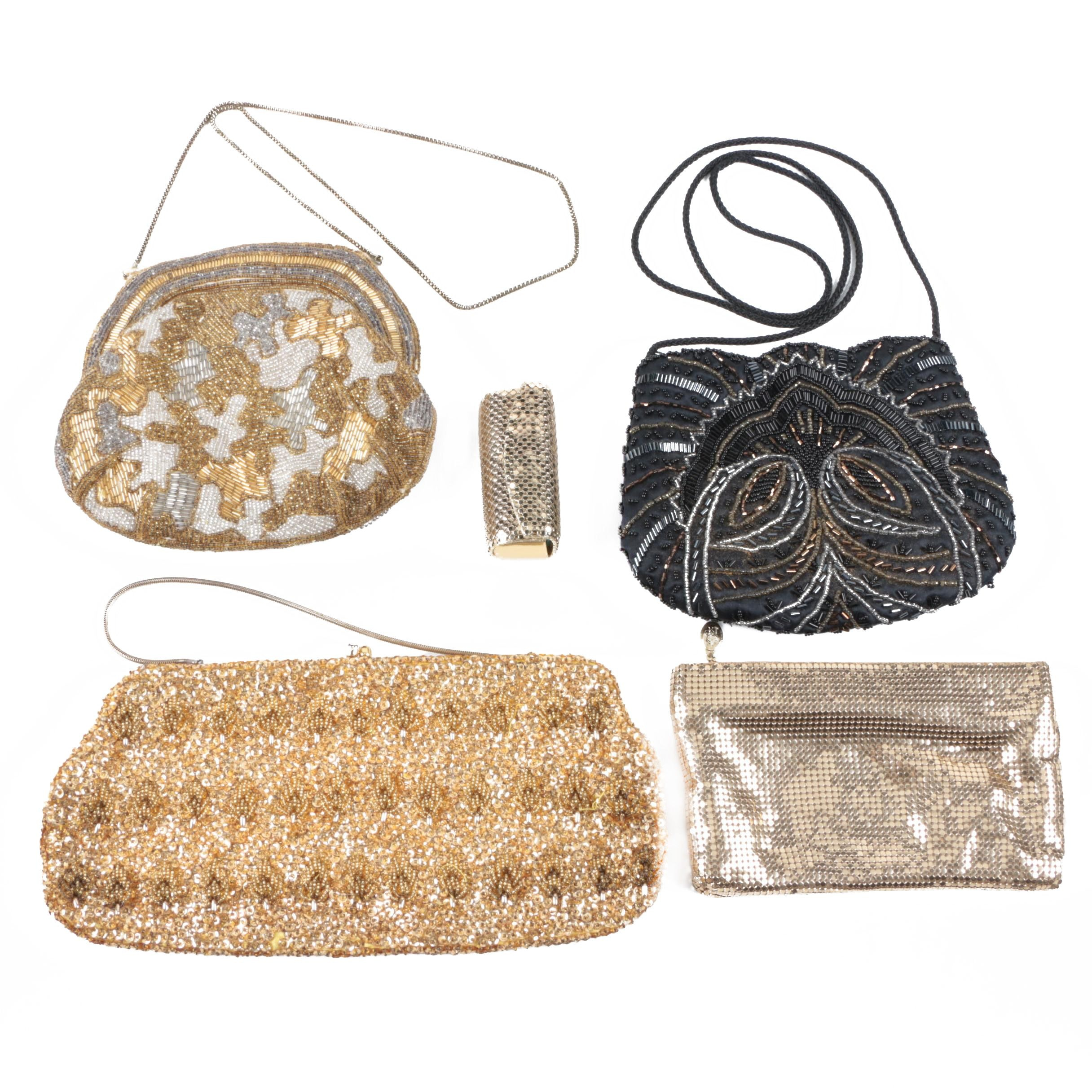 Beaded Handbags and Accessories Including Walborg and Whiting and Davis