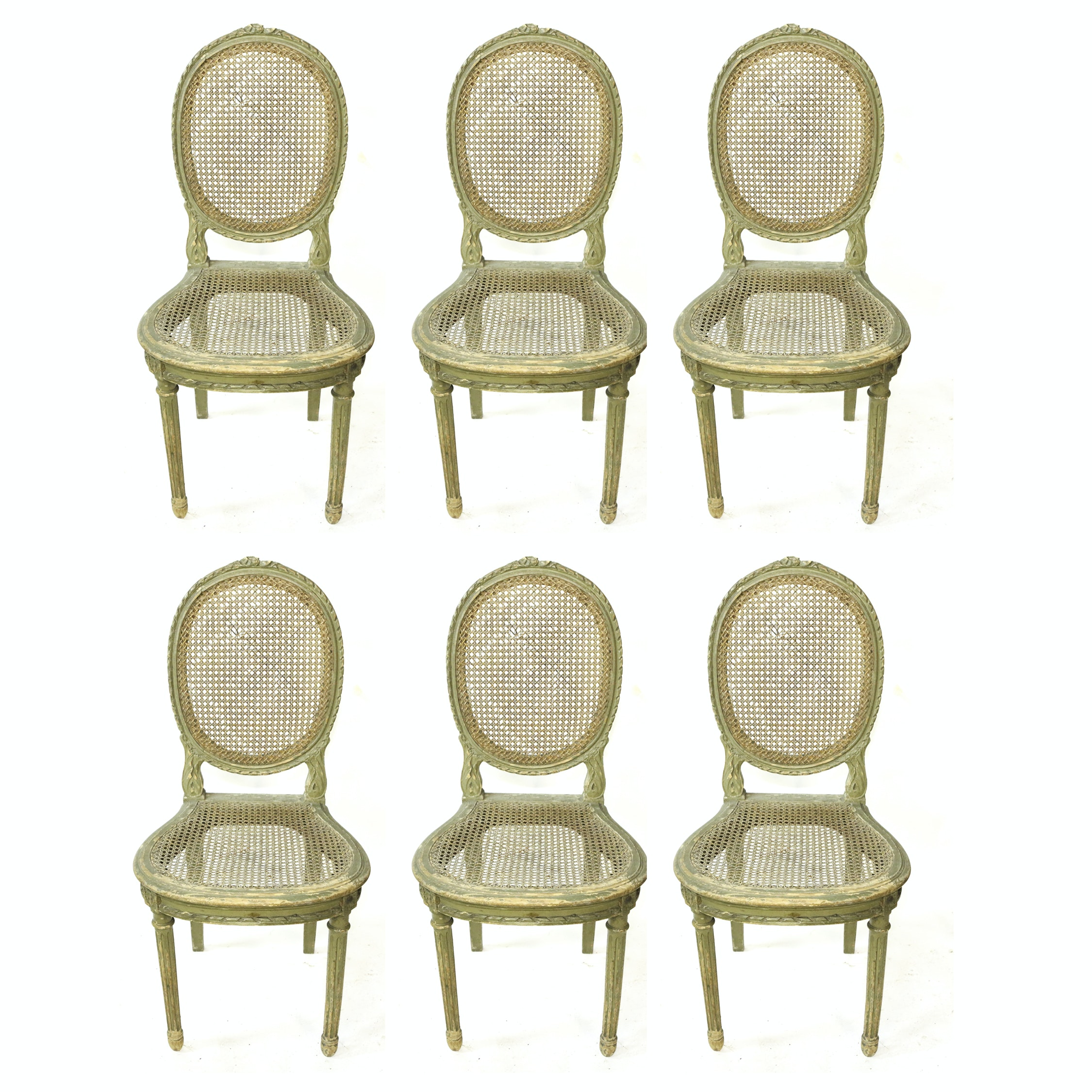Vintage Louis XVI Style Caned Chairs