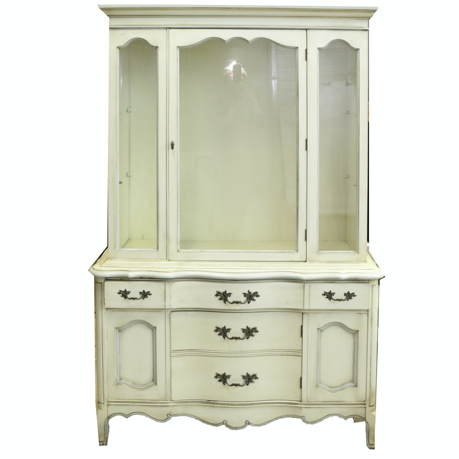 French Provincial Sideboard Display Cabinet