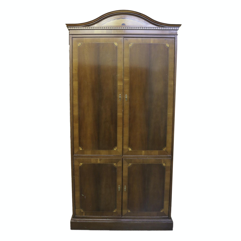 Hepplewhite Style Inlaid Wood Media Cabinet