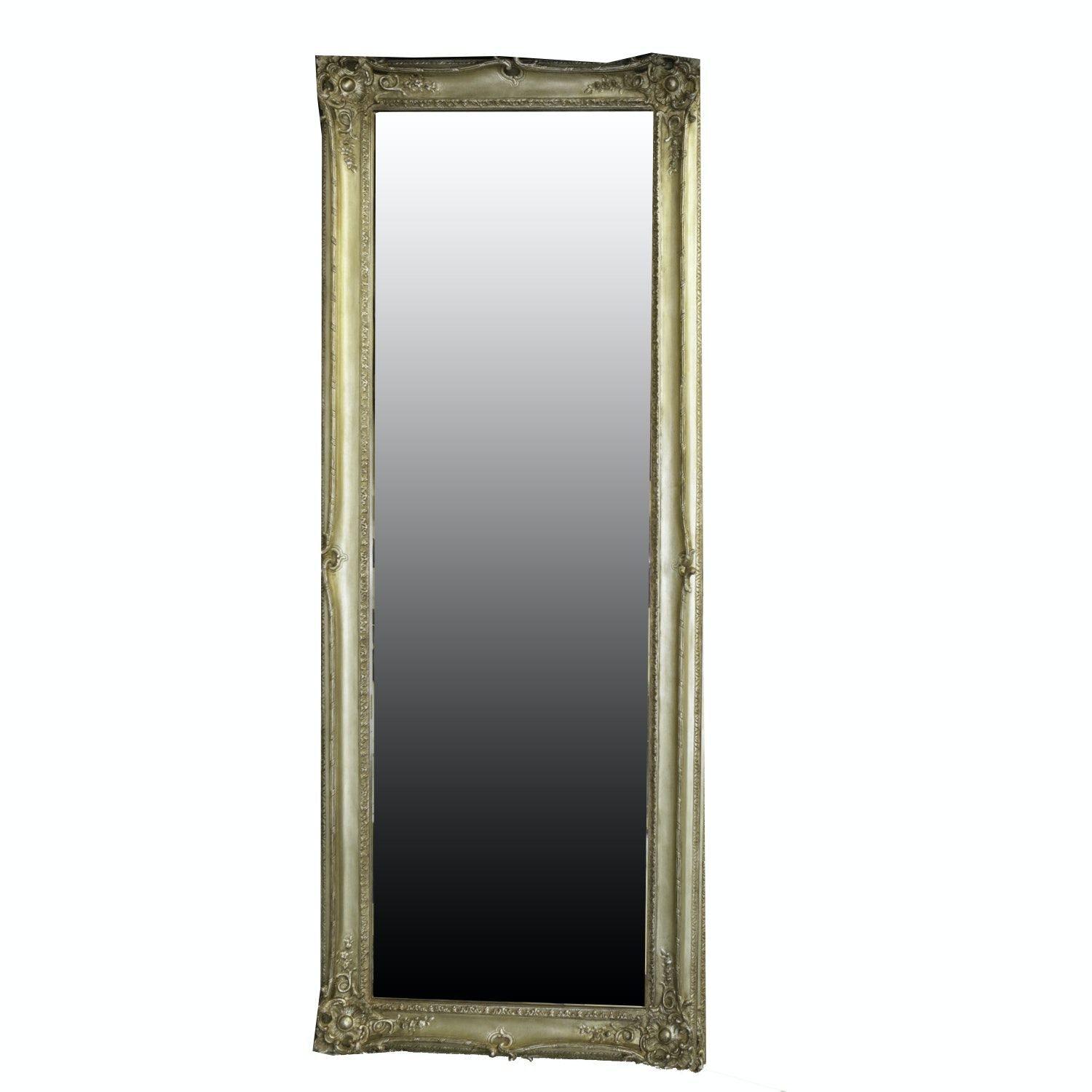Baroque-Style Wood Framed Wall Mirror