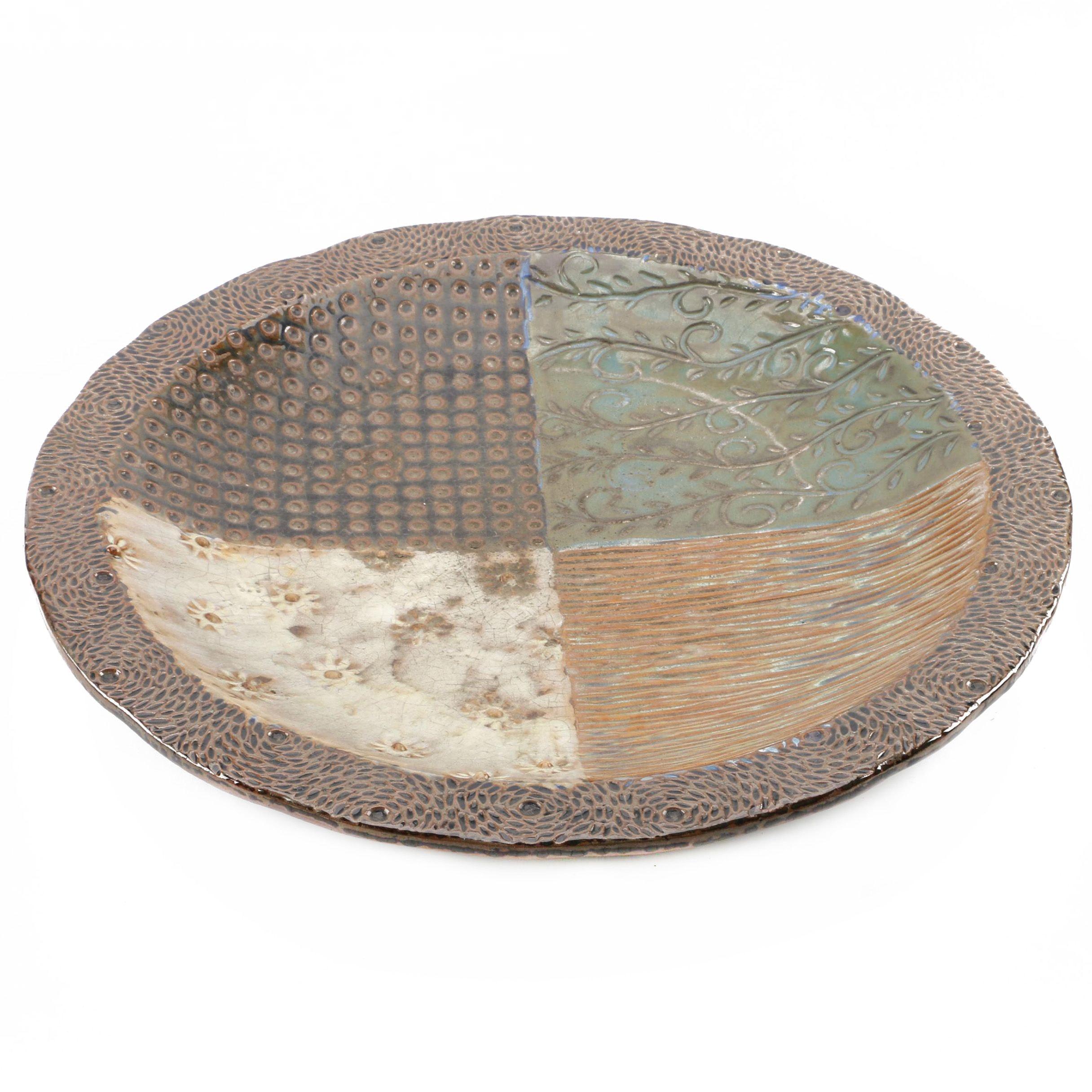 Large Decorative Ceramic Plate ...  sc 1 st  EBTH.com & Large Decorative Ceramic Plate : EBTH