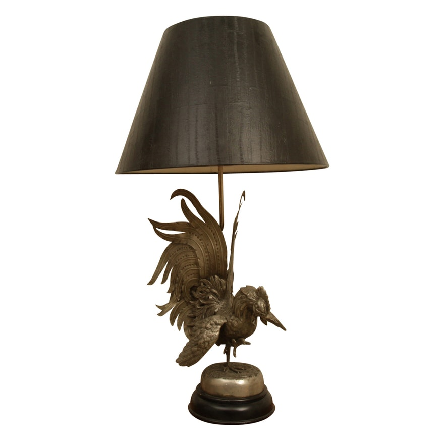 inch white lamp polka clearance and accent black lamps floor rooster ceramic