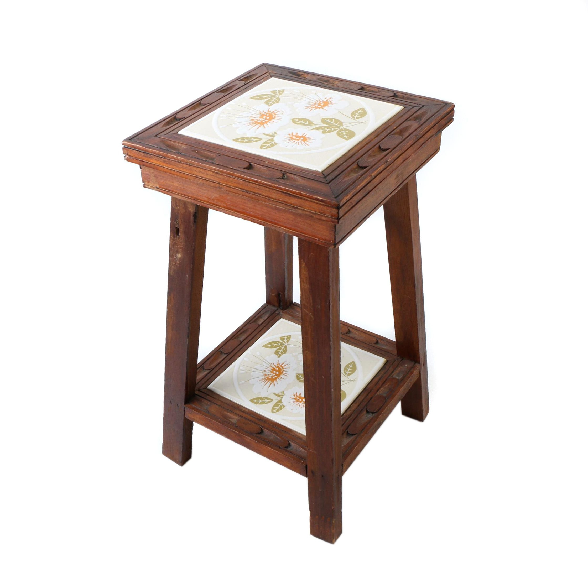 Mid-Century Decorative Tile Stand