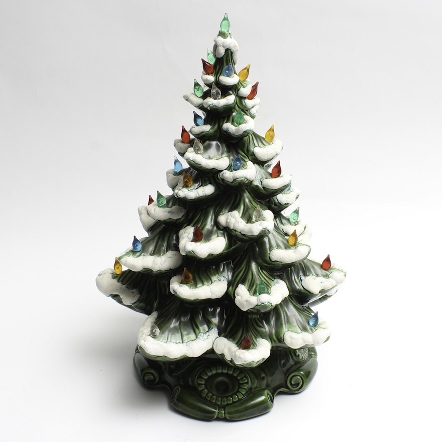 ceramic christmas tree with ornaments - Ceramic Christmas Ornaments