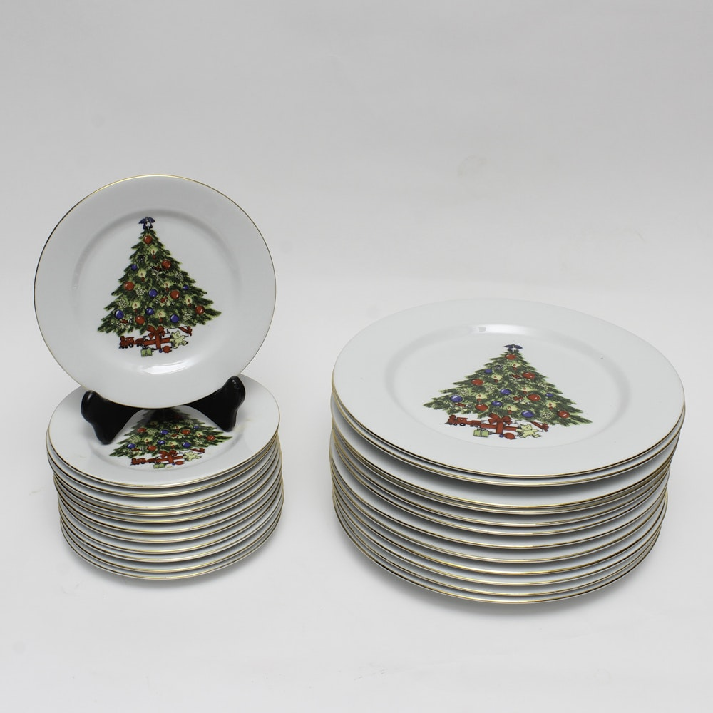 Sea Gull Holiday Themed Christmas Tree Dinnerware ... & Sea Gull Holiday Themed Christmas Tree Dinnerware : EBTH