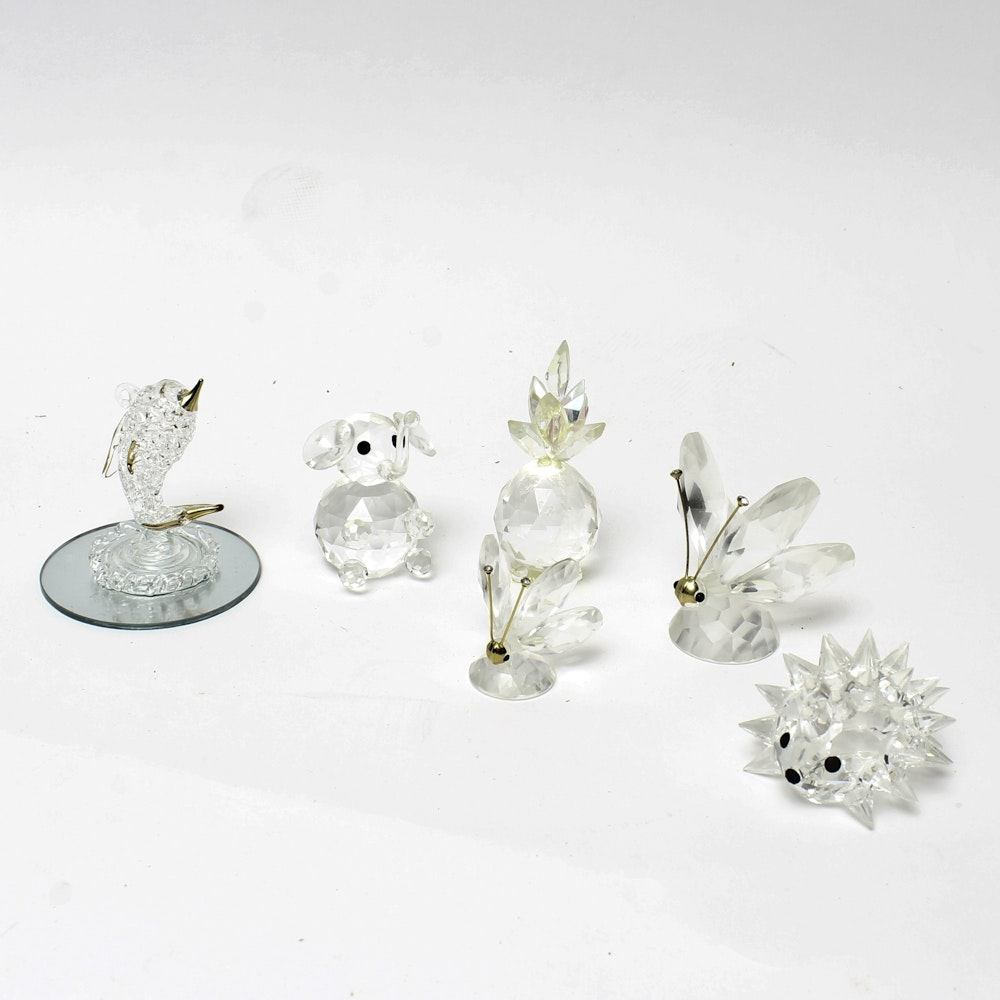 Swarovski and Glass Miniature Animal Figurines