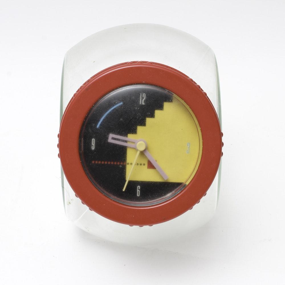 Vintage Modern Plastic Clock Canister