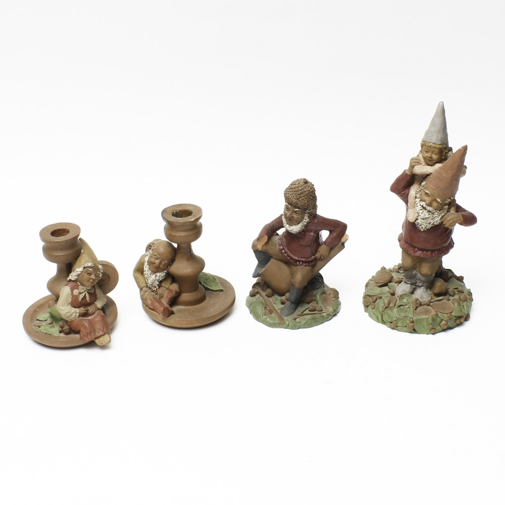 Collection of Terra Cotta Figures and Candle Holders