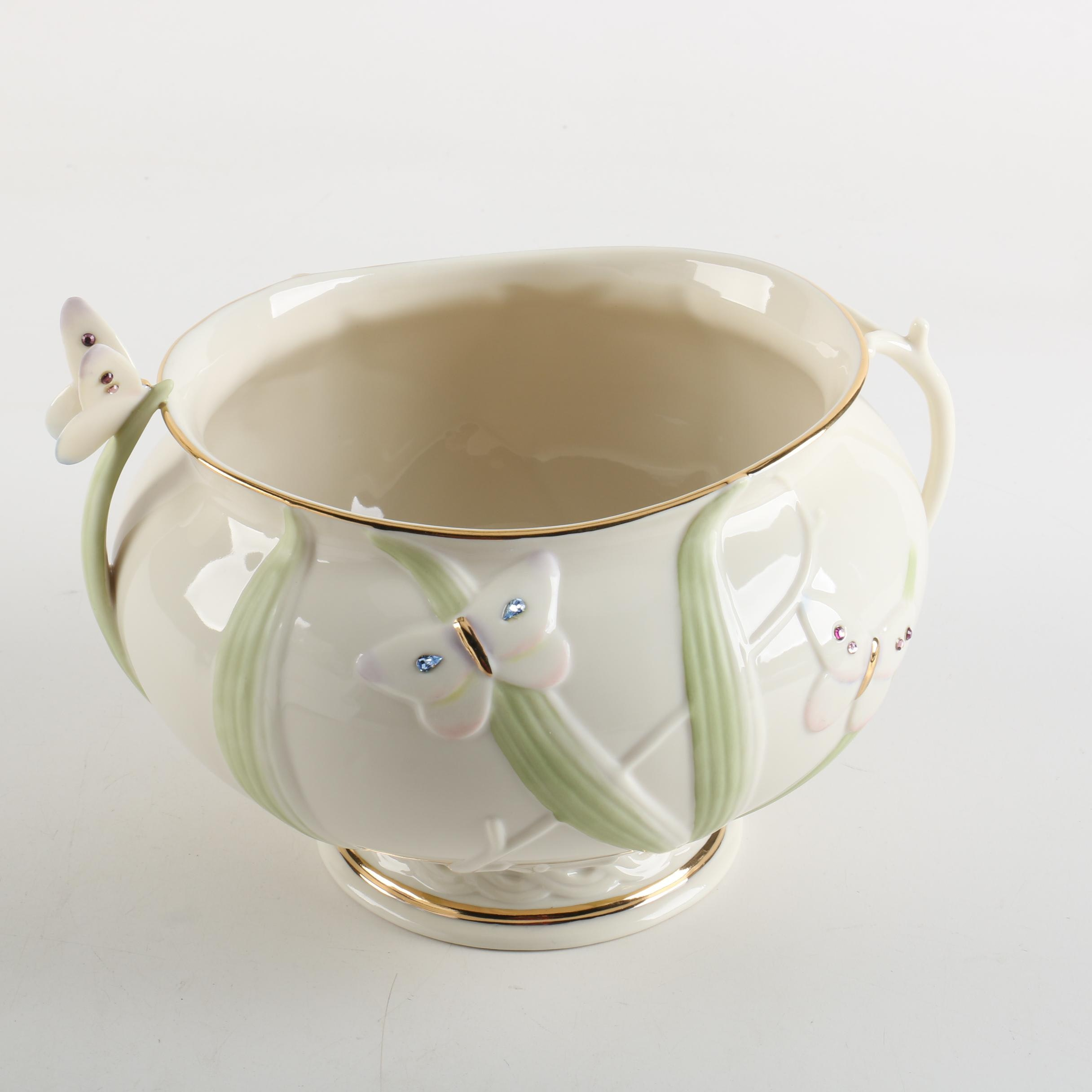 "Lenox Porcelain ""Jeweled Butterfly Garden Bowl"""