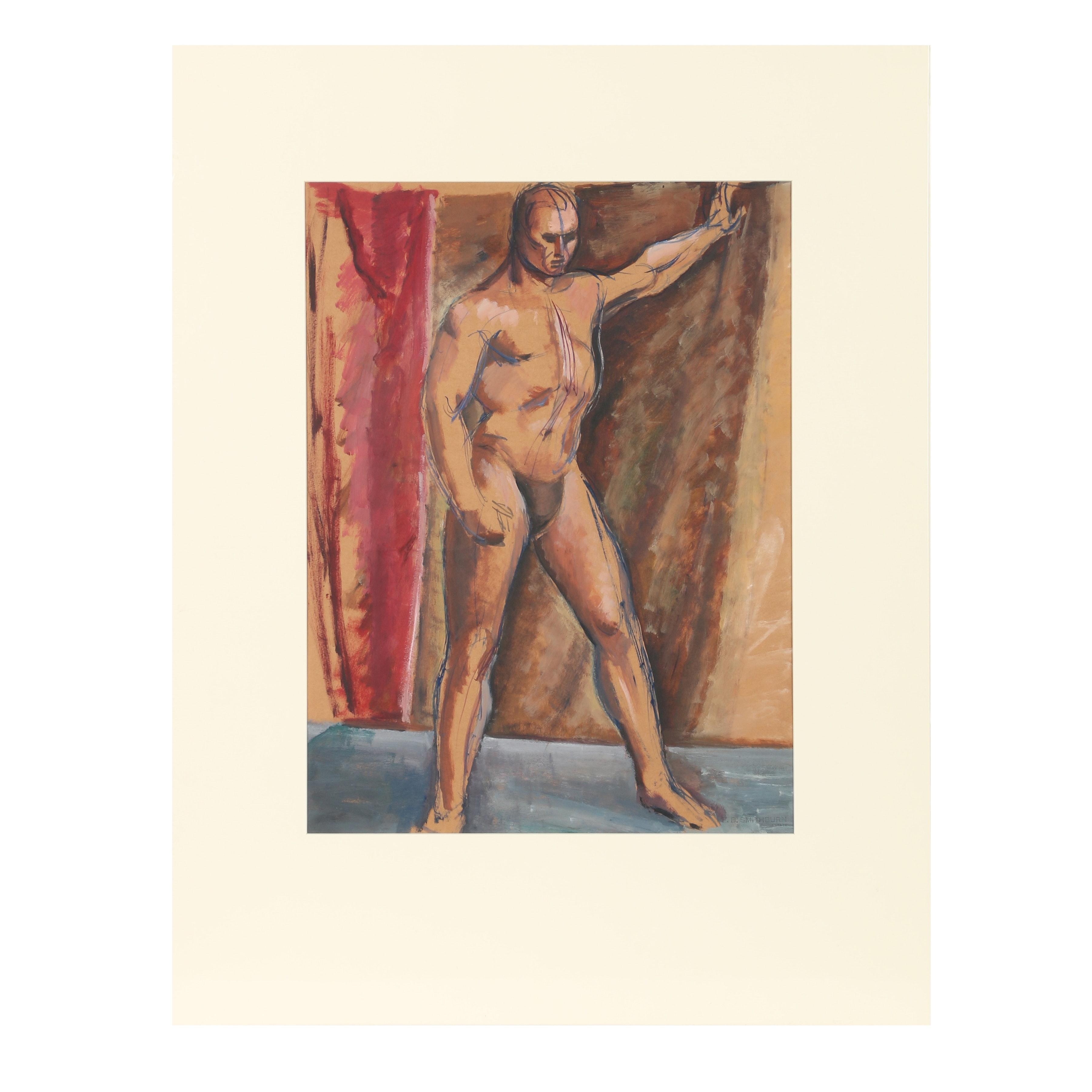 Florence Bartley Smithburn Gouache Painting