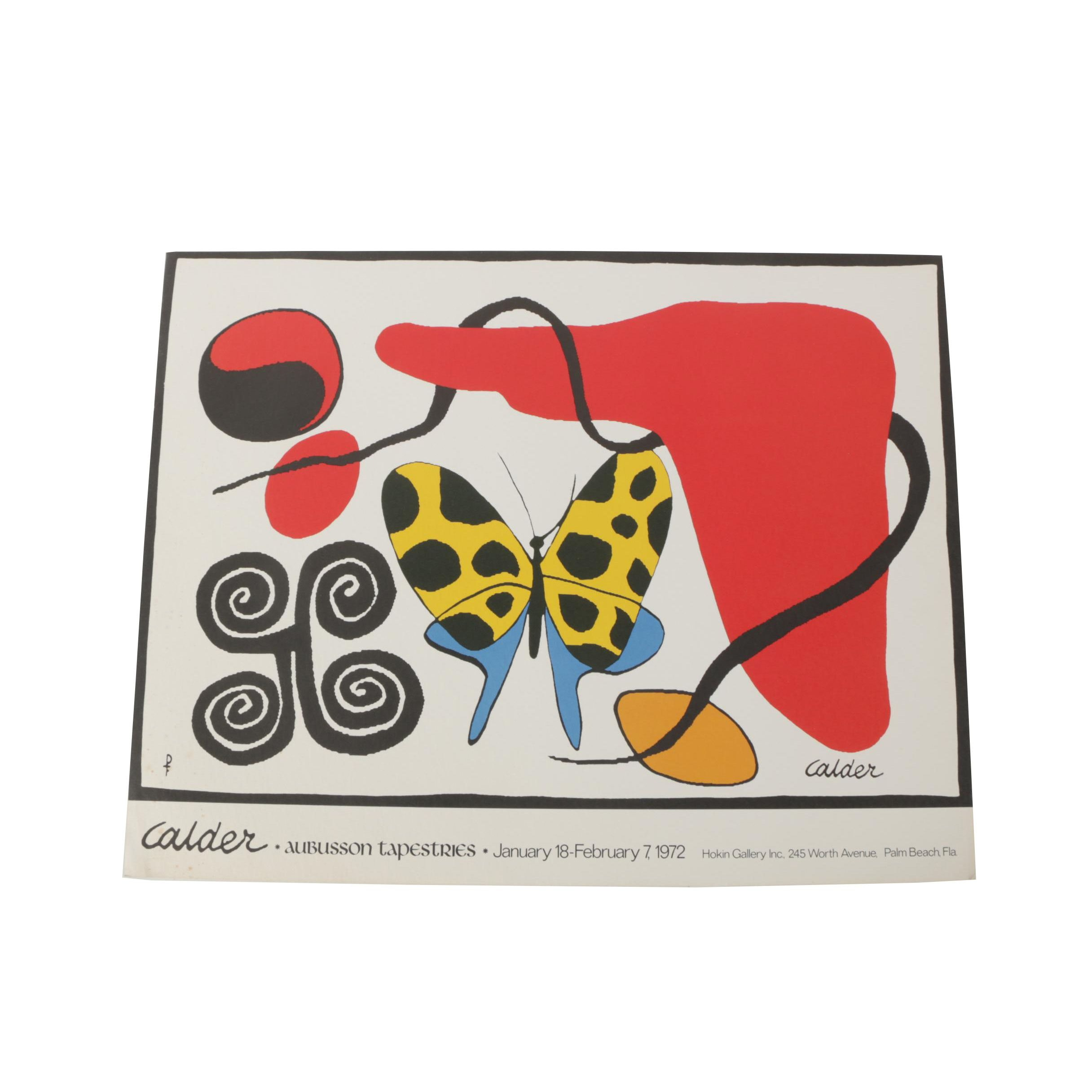 1972 Calder Aubusson Tapestries Exhibition Poster