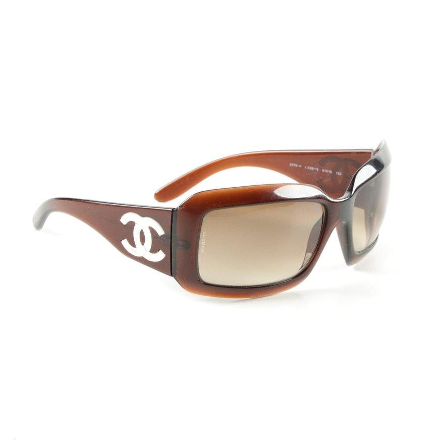 c73b385c893de Chanel Sunglasses with Mother of Pearl Logo