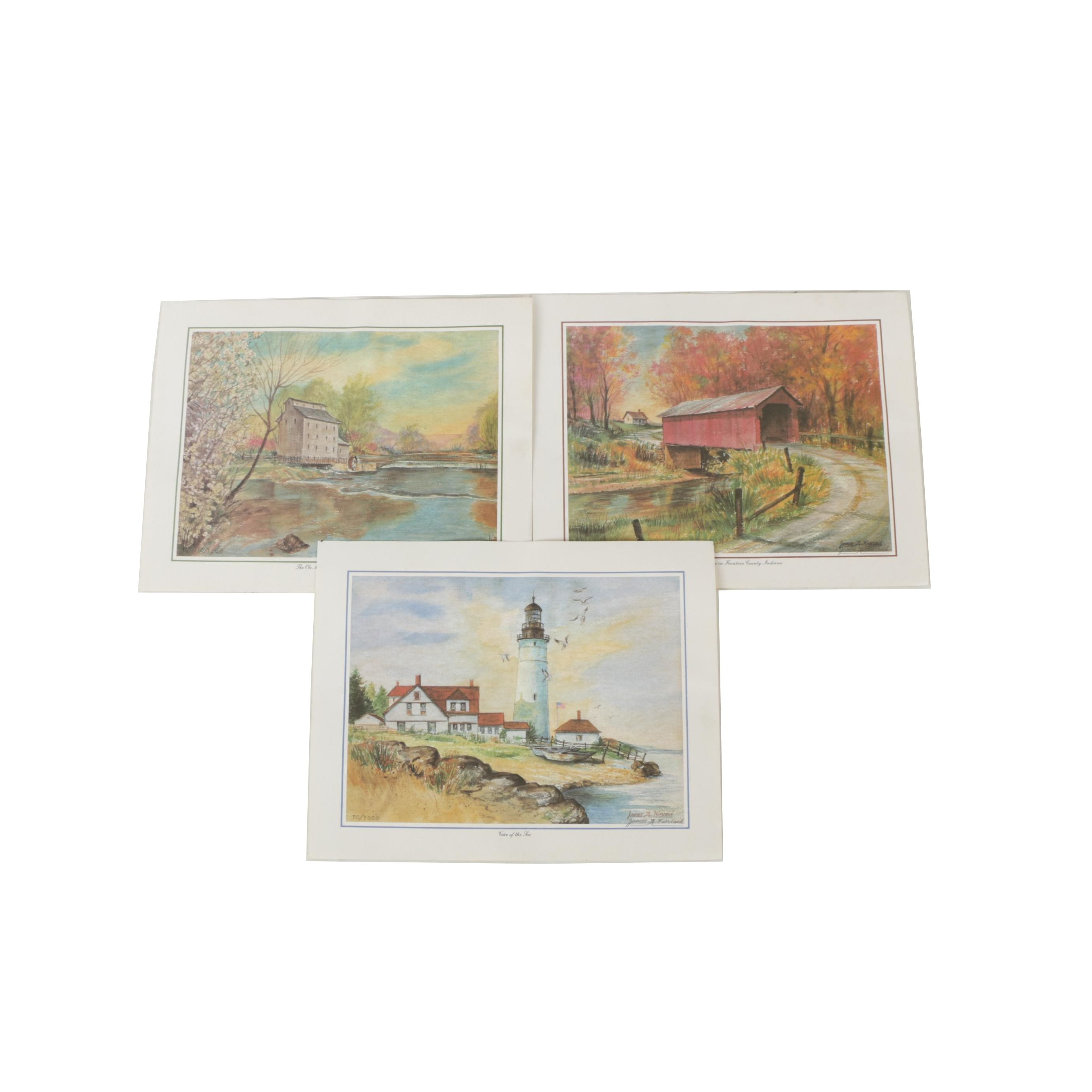 James A. Kincaid Limited Edition Offset Lithographs of Landscapes