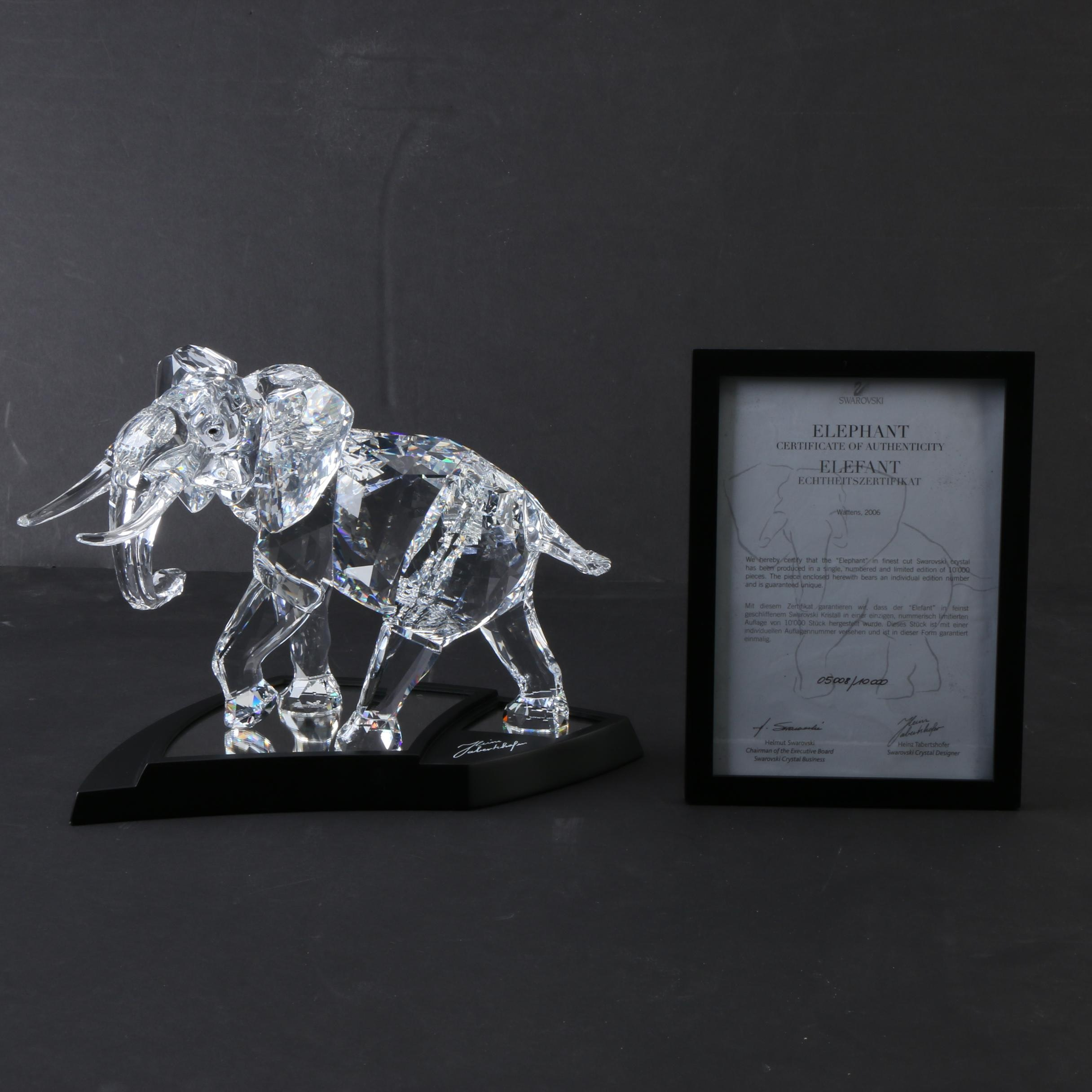 Swarovski 2006 Limited Edition Elephant With Certificate of Authenticity