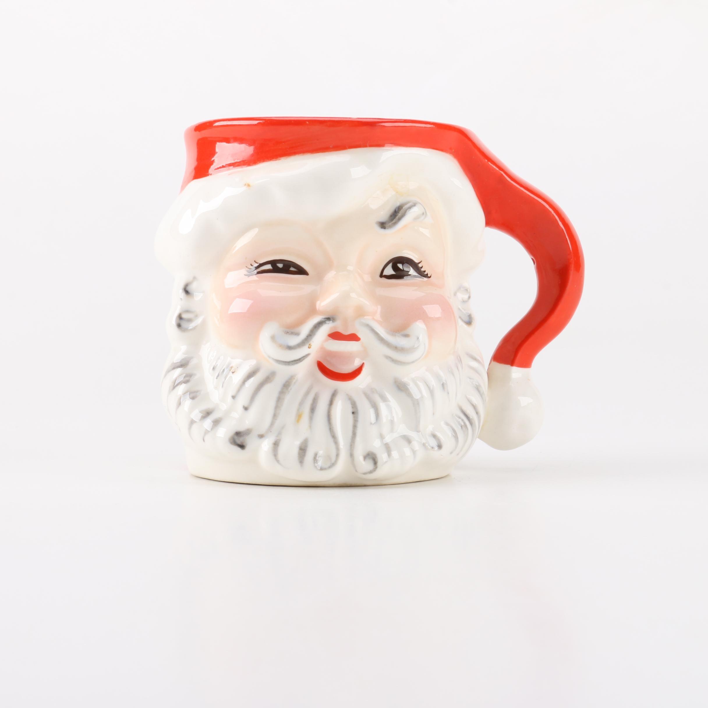 Vintage Napco Santa Character Mug