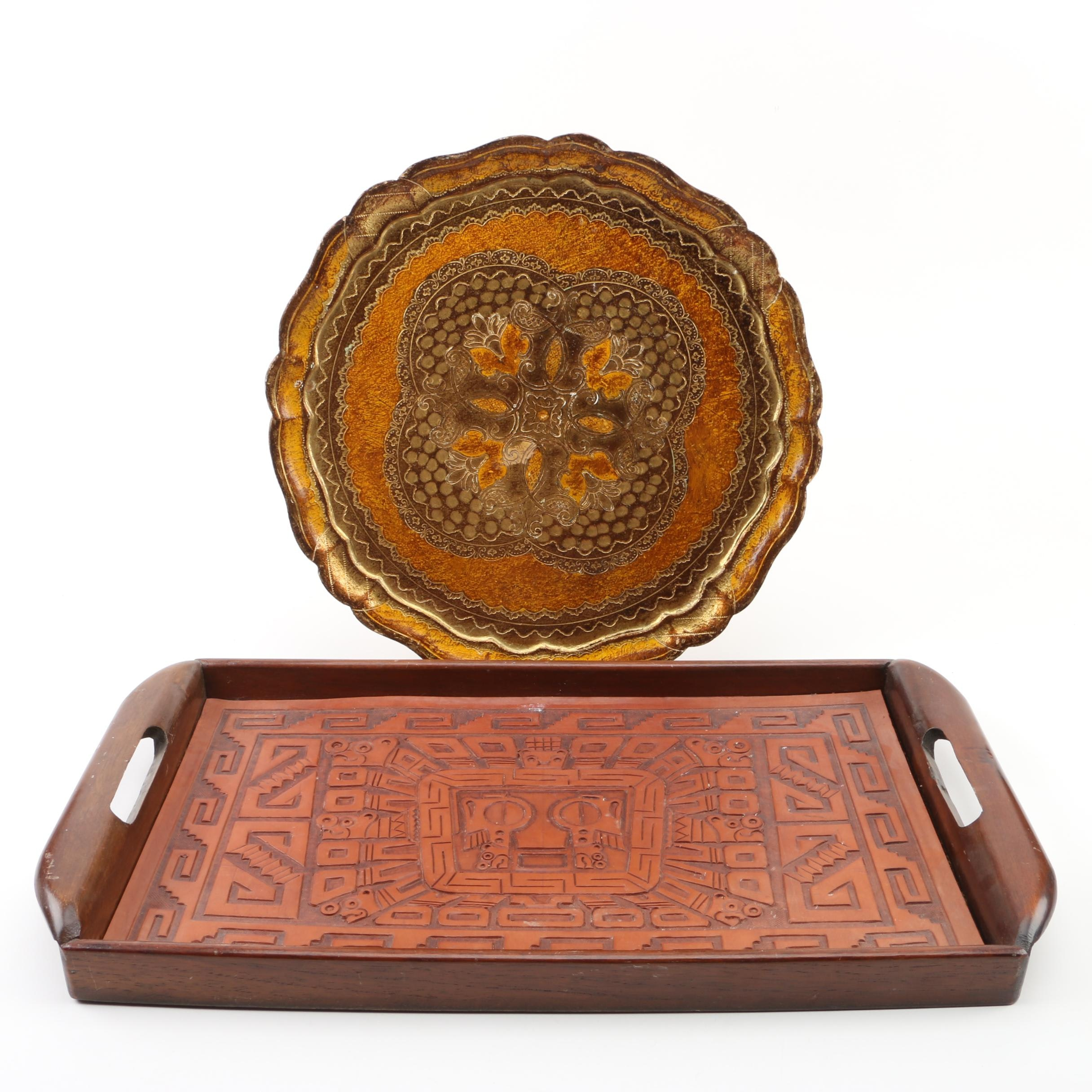 Peruvian and Florentine Style Serving Trays