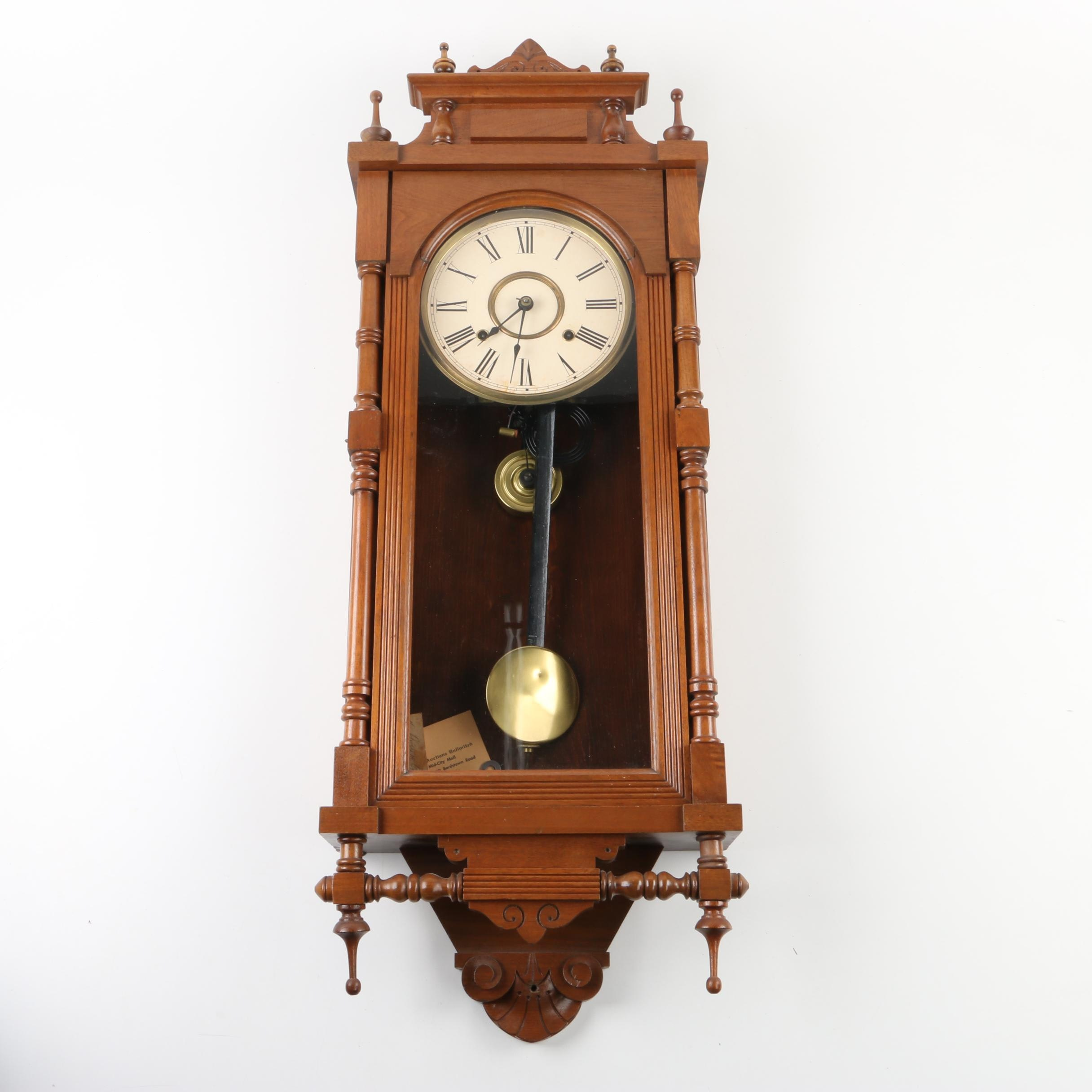 Antique Ansonia Eastlake Style Eight Day Wall Clock