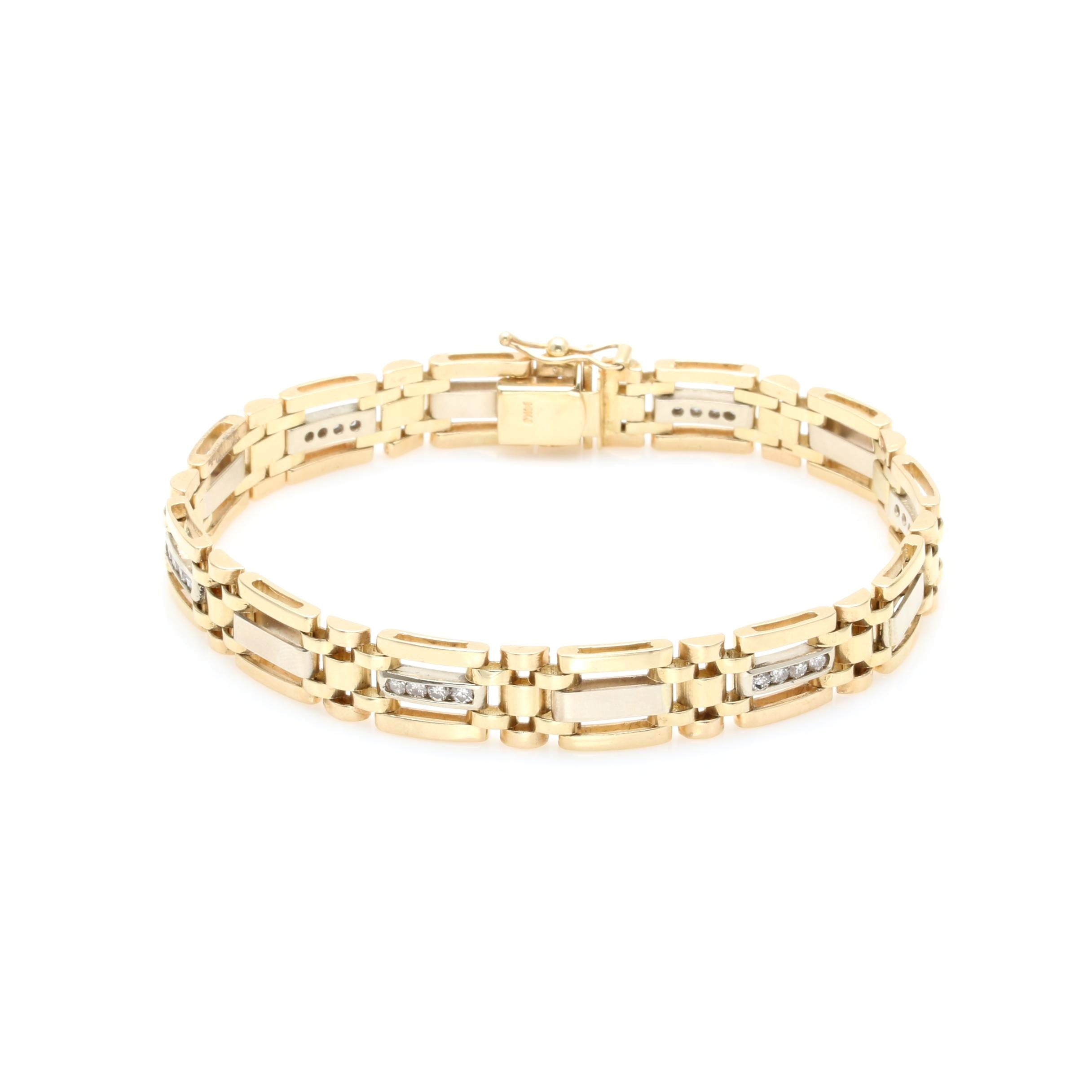 14K Yellow Gold 0.96 CTW Diamond Bracelet