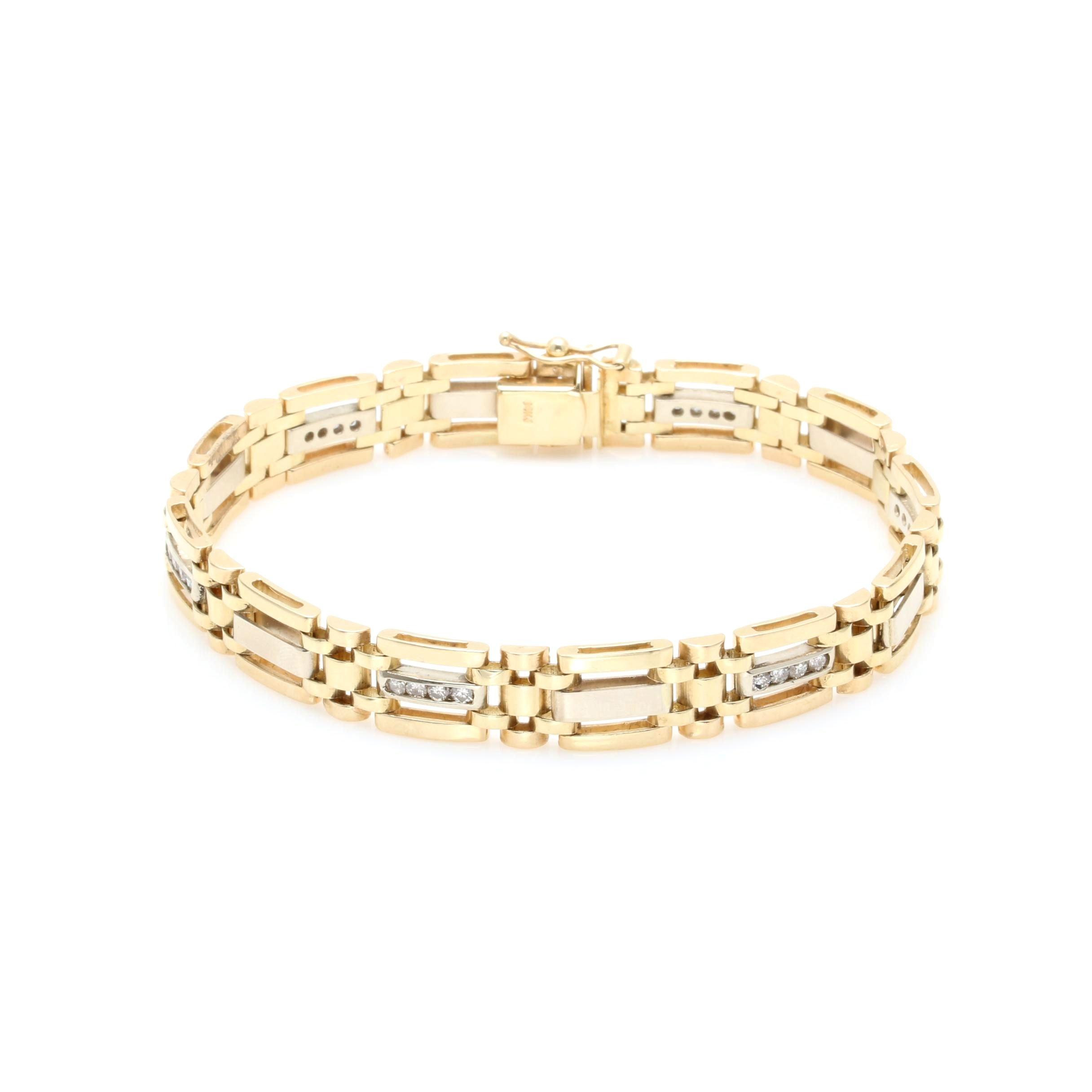 14K Yellow Gold 0.96 CTW Diamond Bracelet
