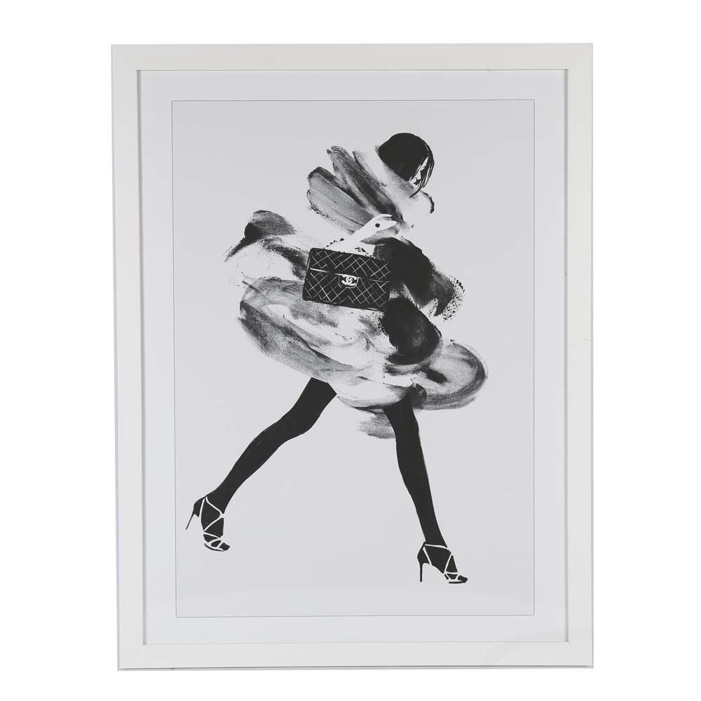"After Judith van den Hoek Offset Lithograph on Paper ""Running Late"""