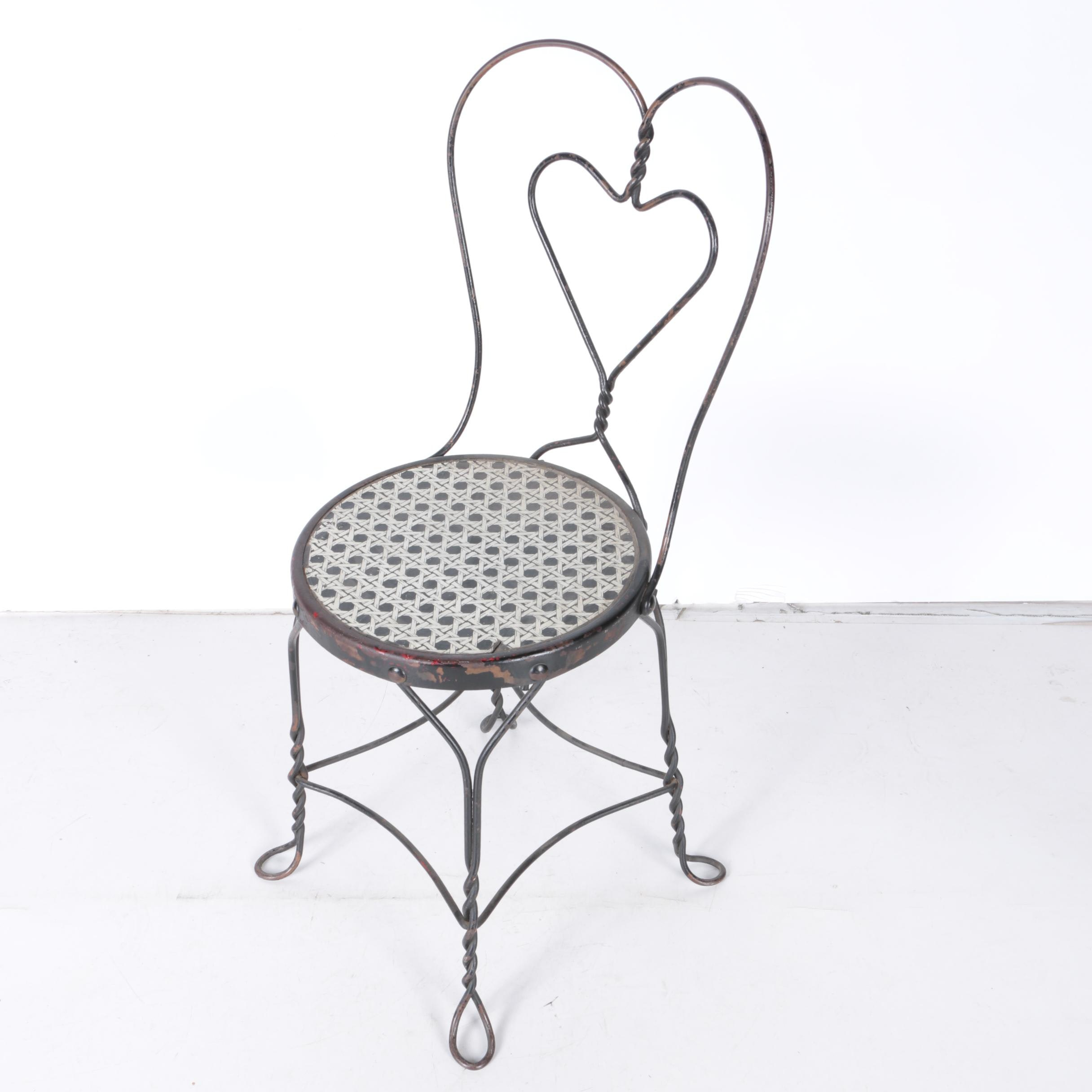 Vintage Wire Ice Cream Parlor Chair ...