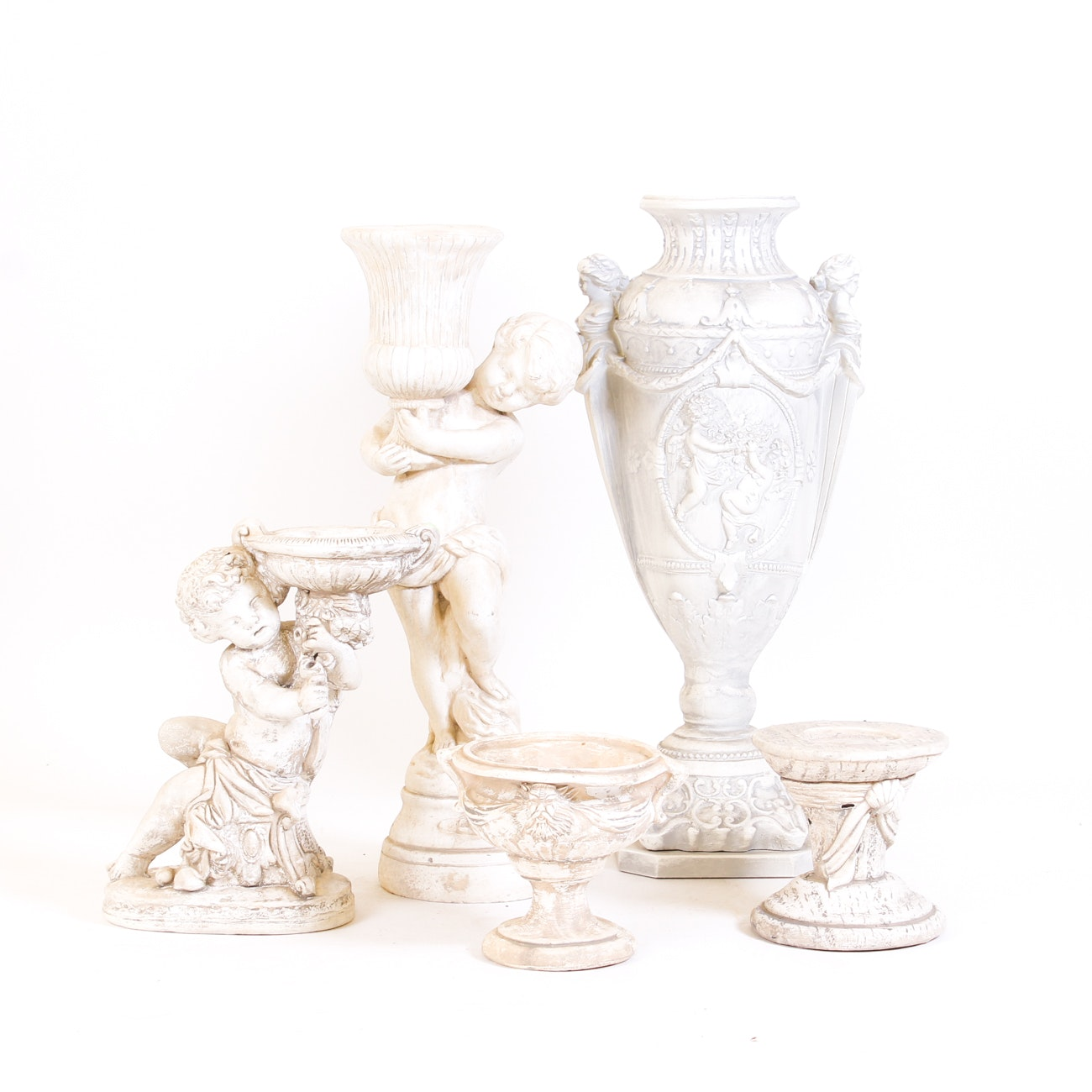 Neoclassical Style Urns, Candleholders and Vases