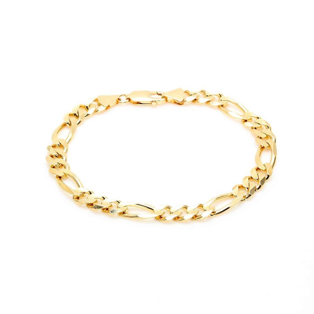 14K Yellow Gold Figaro Link Bracelet