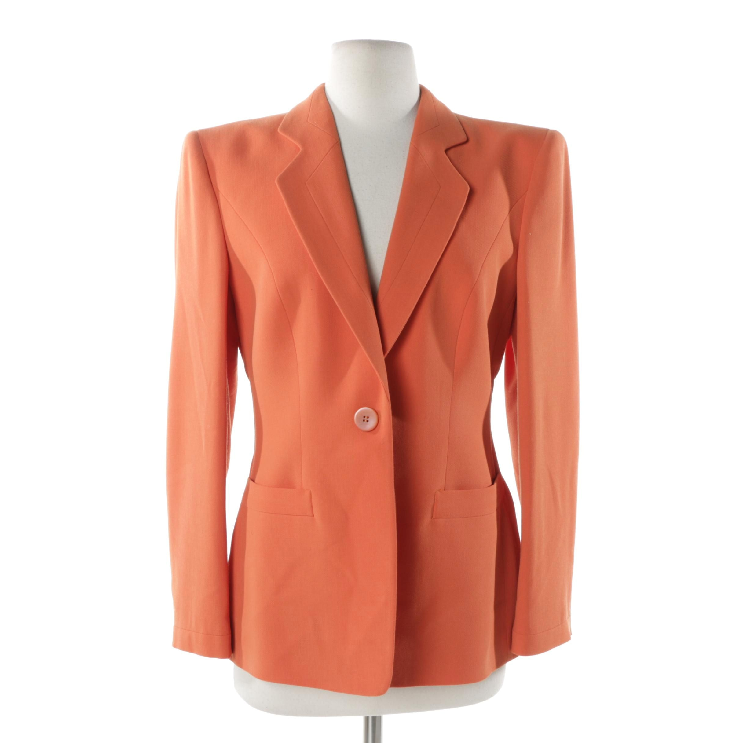 Women's Giorgio Armani Orange Wool Blazer