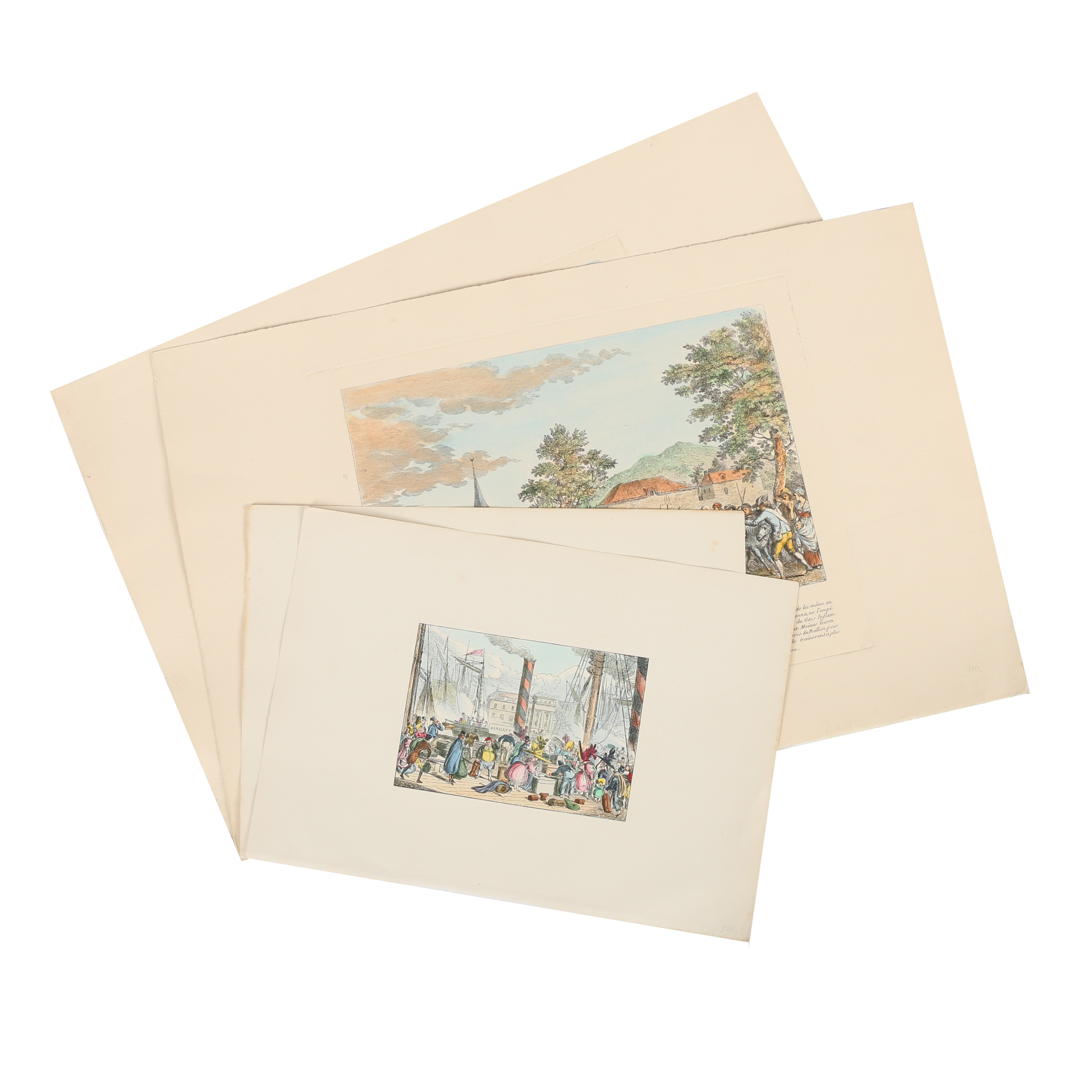 Hand-Colored Etchings and Lithographs