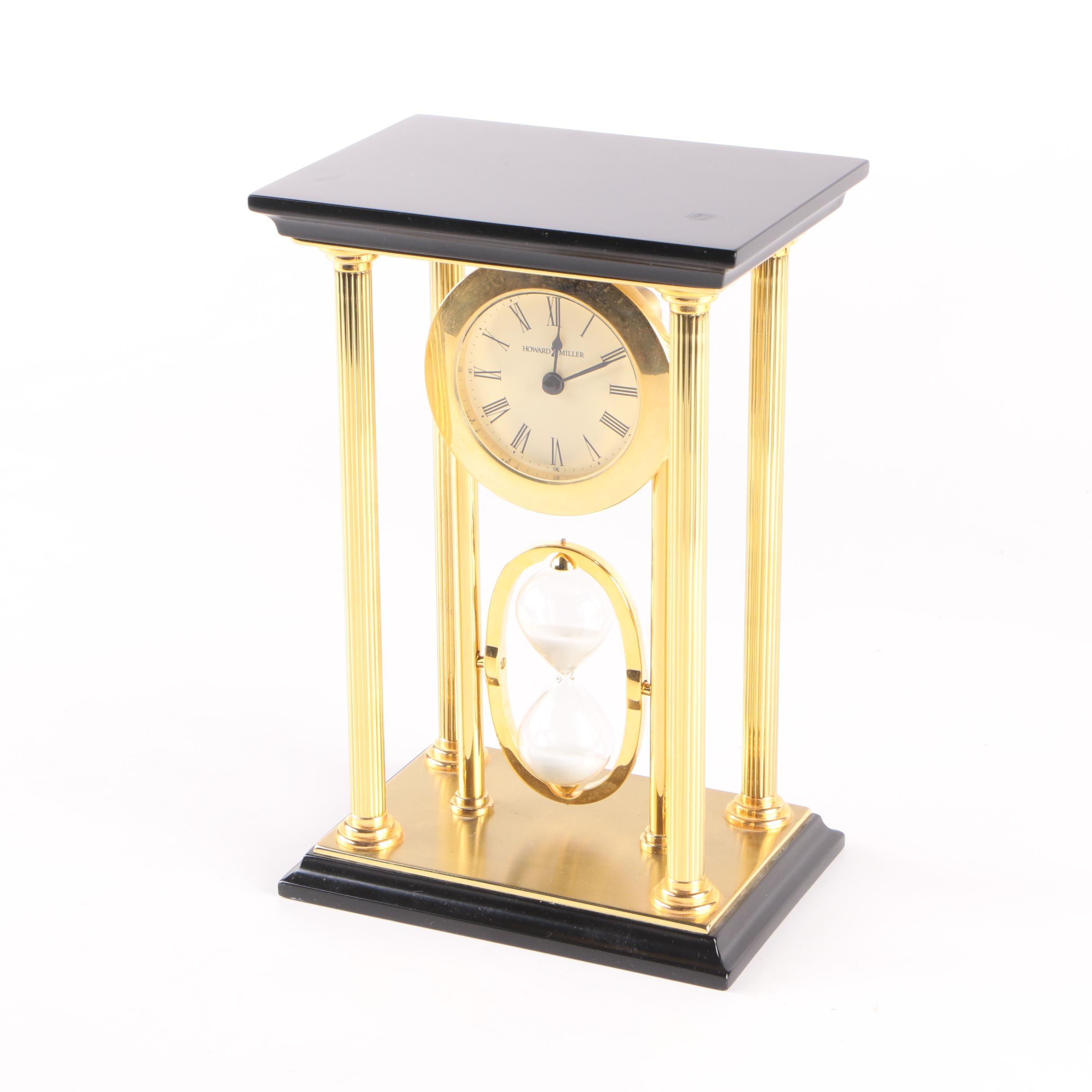 Howard Miller Hourglass Mantel Clock
